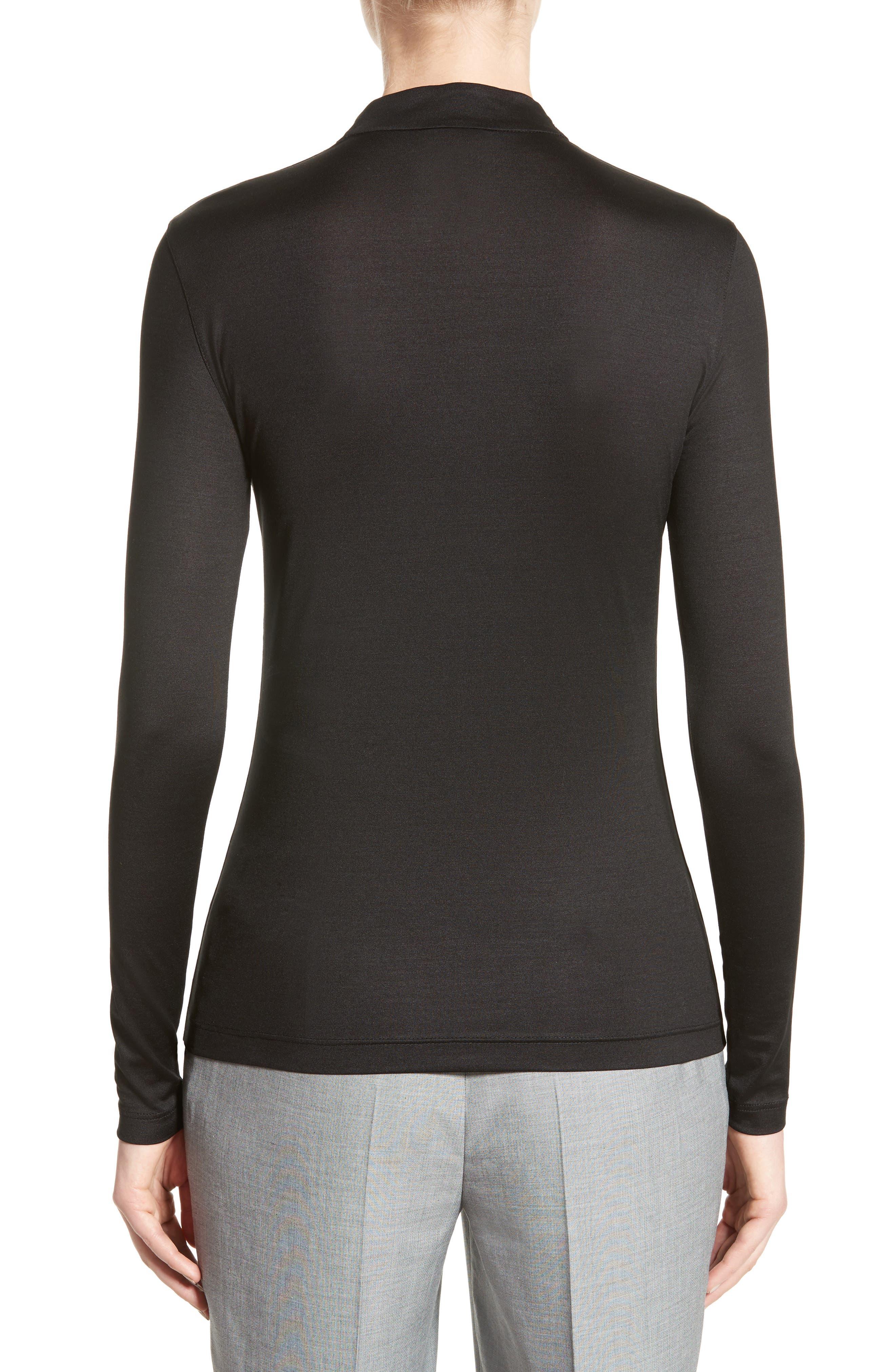Alternate Image 2  - Akris Long Sleeve Silk Jersey Blouse