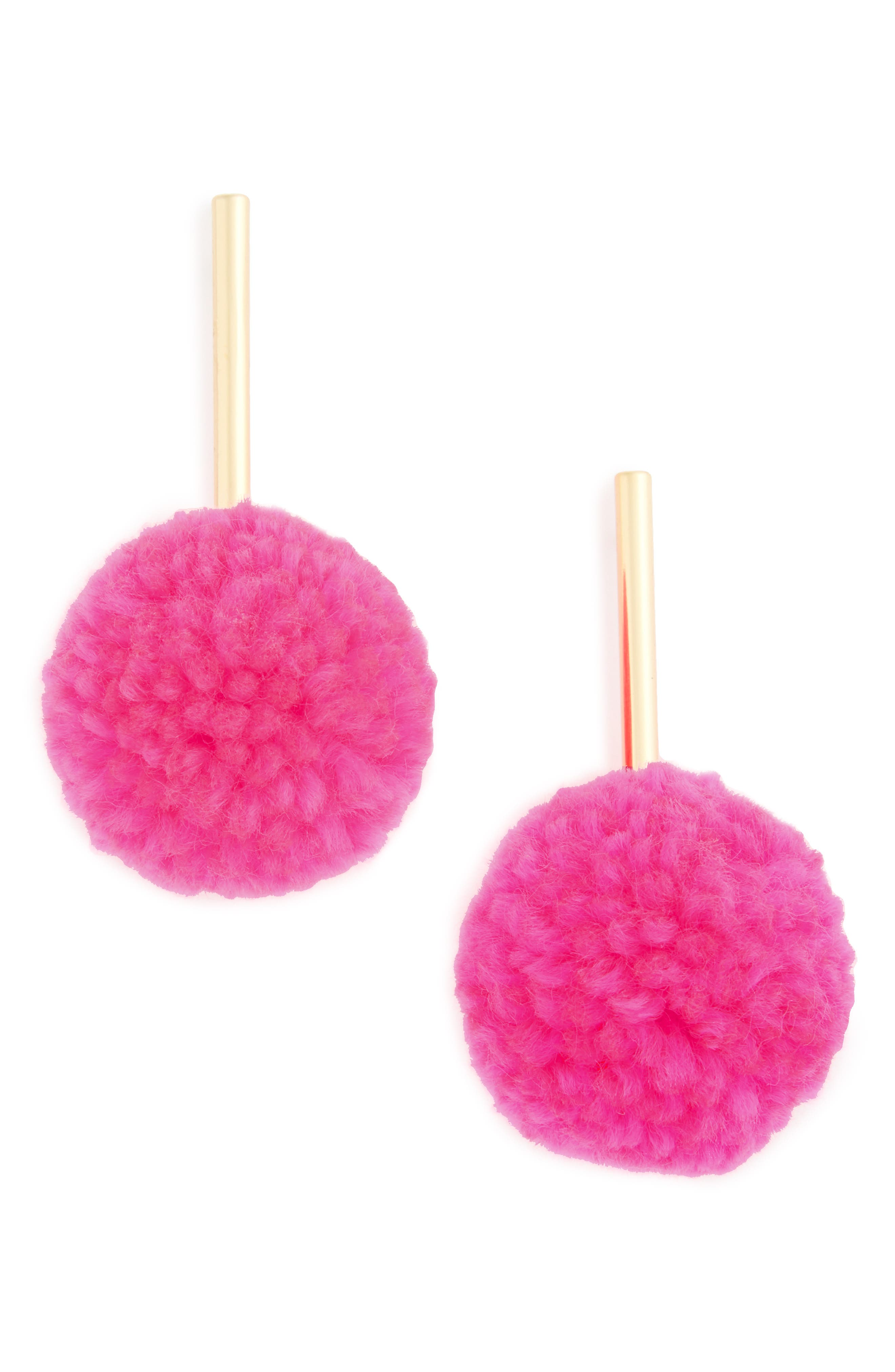 Main Image - BaubleBar Barbados Pompom Drop Earrings