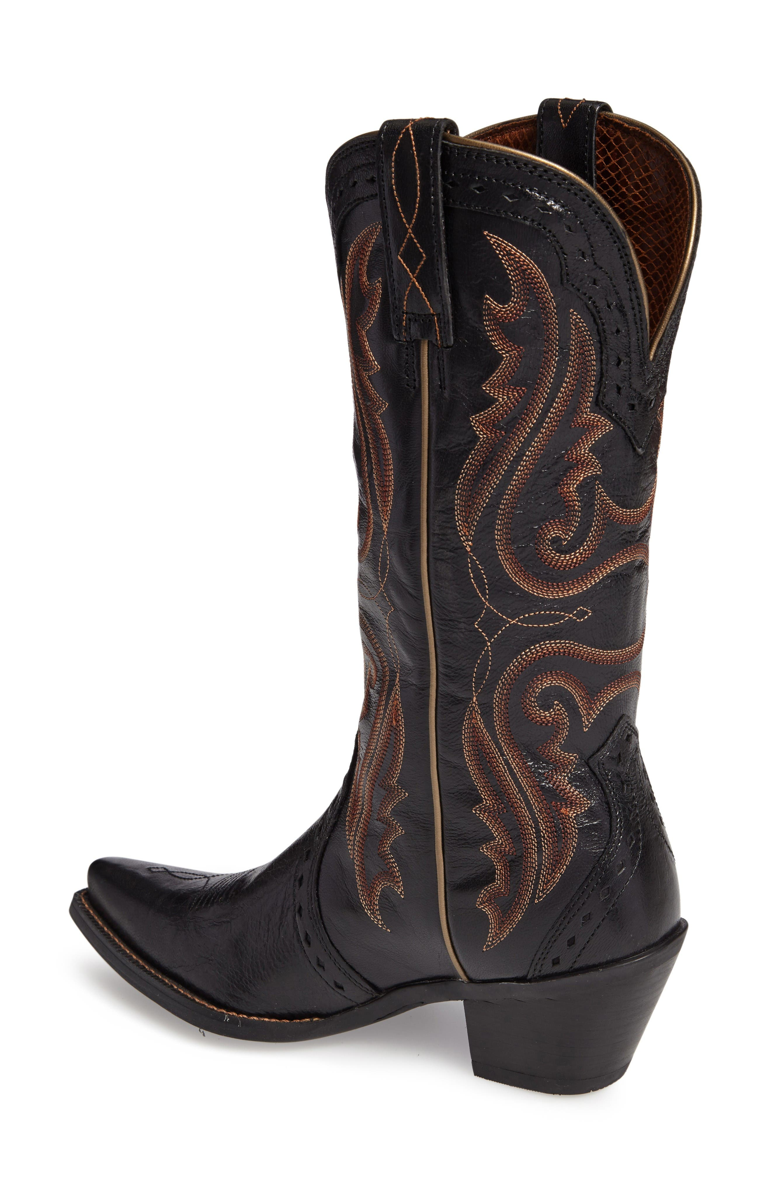 'Western Heritage X Toe' Boot,                             Alternate thumbnail 2, color,                             Old Black Leather