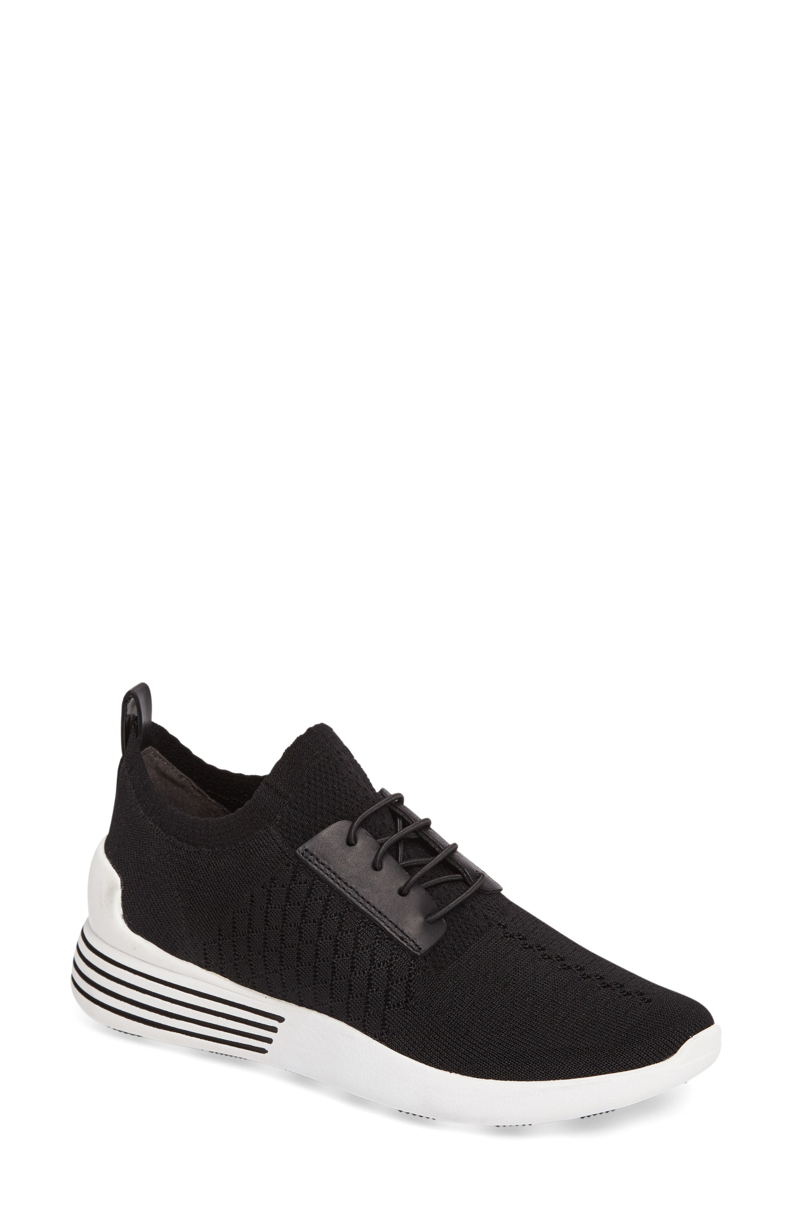 Brandy Woven Sneaker,                             Main thumbnail 1, color,                             Black/ Black Fabric