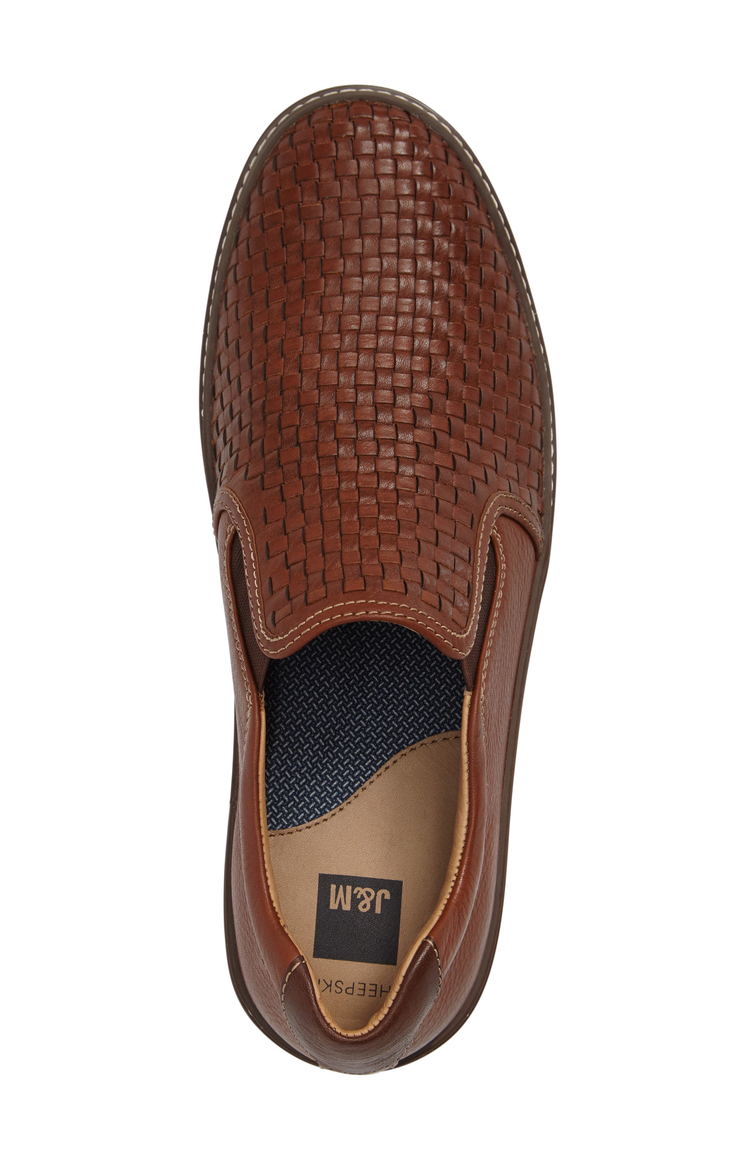 McGuffey Woven Slip-On Sneaker,                             Alternate thumbnail 3, color,                             Tan Leather