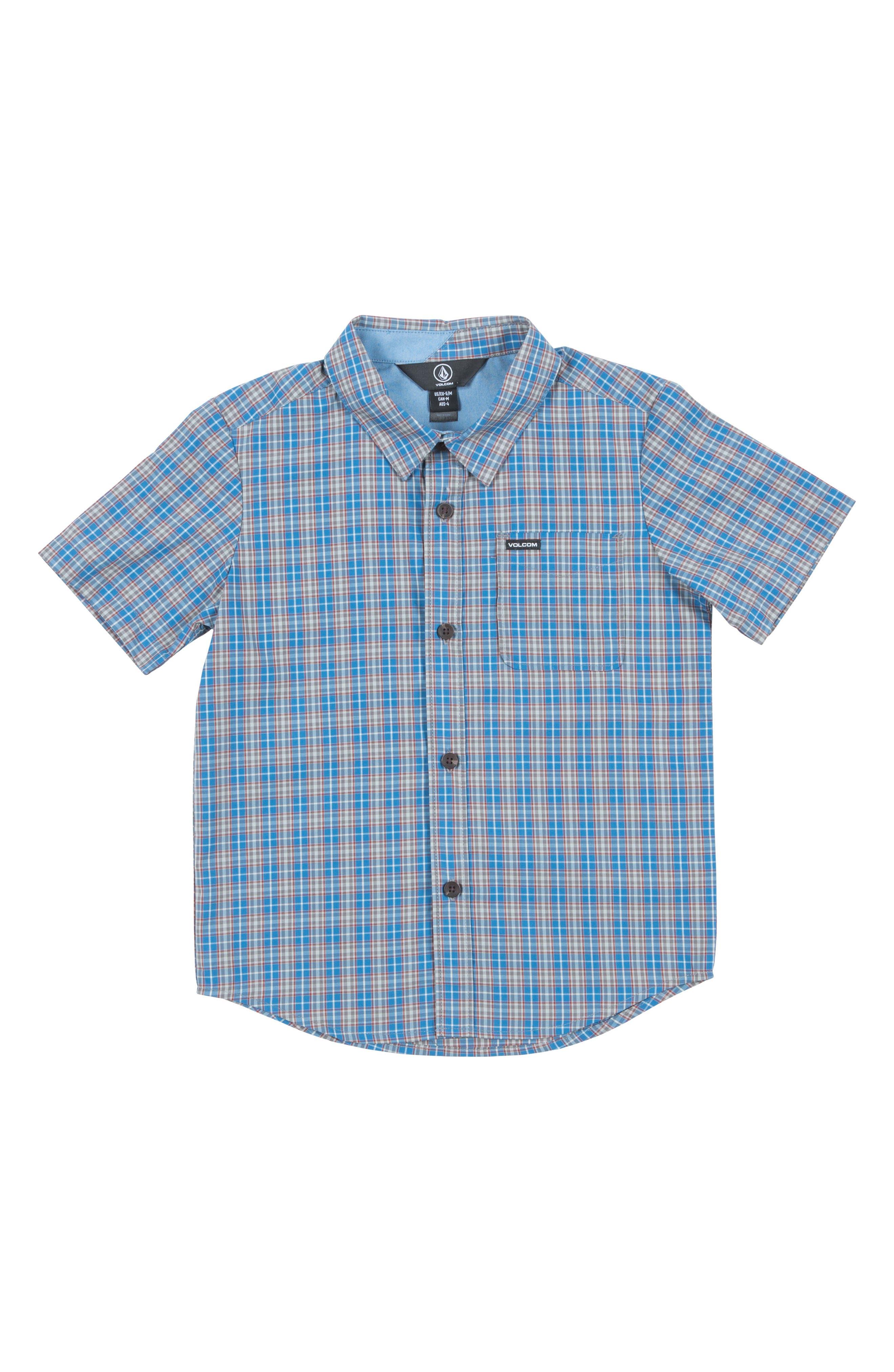 Main Image - Volcom Harper Plaid Woven Shirt (Toddler Boys & Little Boys)