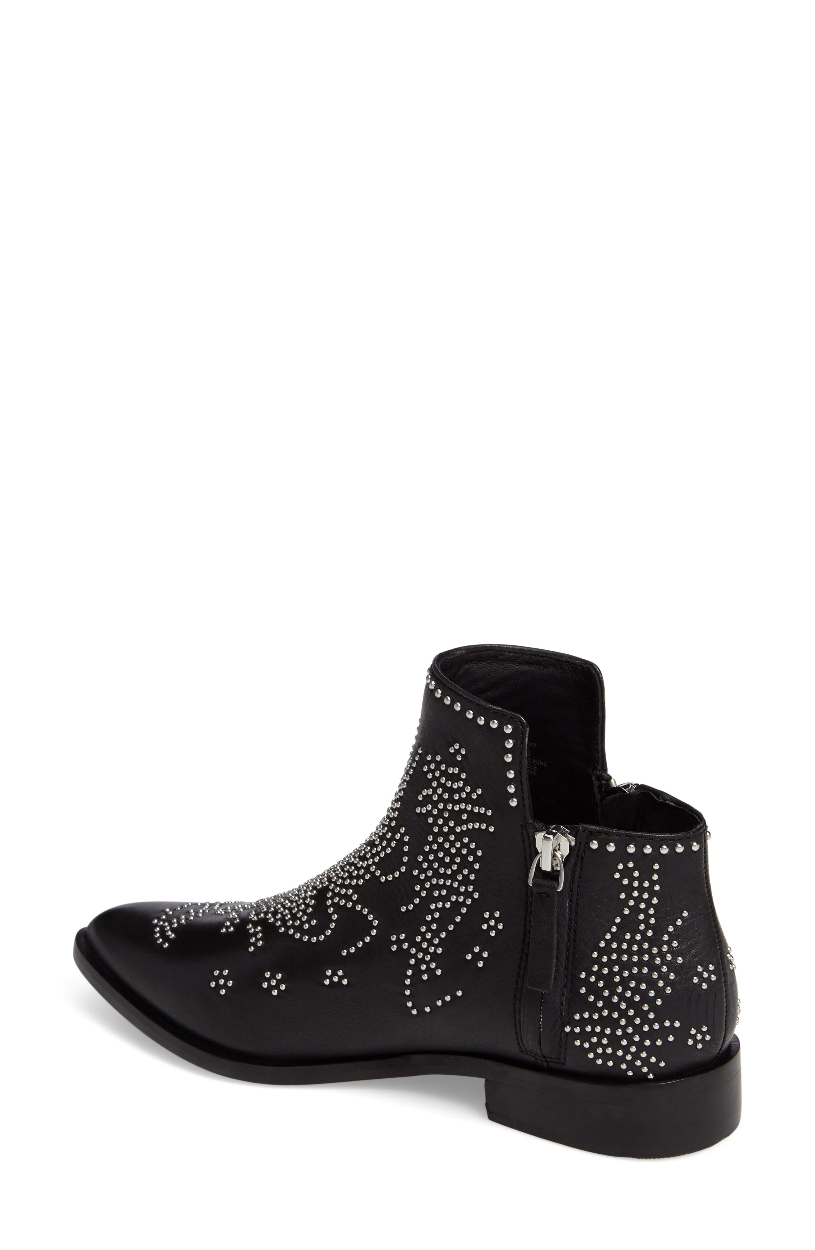 Callback2 Studded Bootie,                             Alternate thumbnail 2, color,                             Black Leather