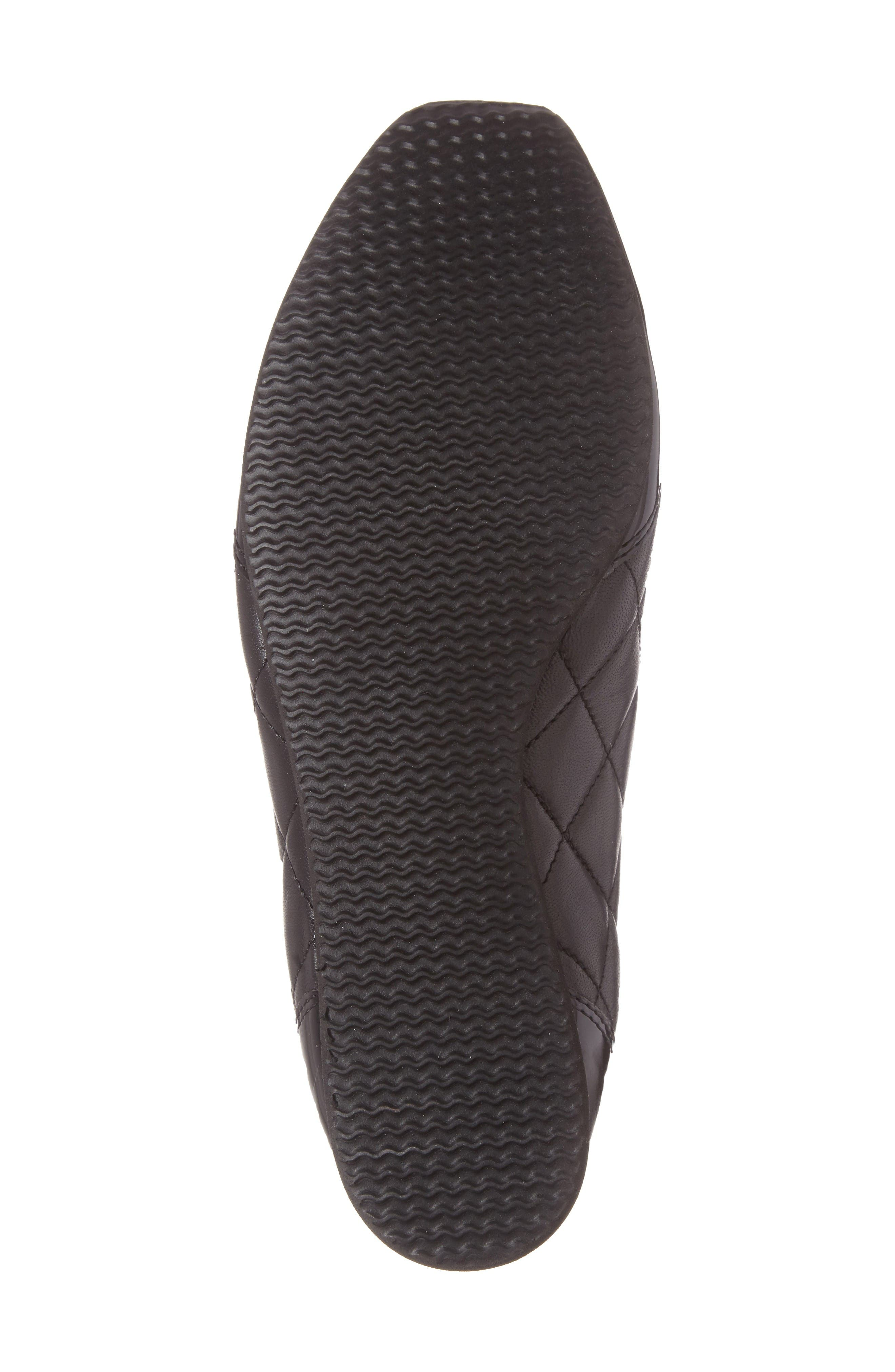 Ilana Sneaker,                             Alternate thumbnail 4, color,                             Black Quilted Leather