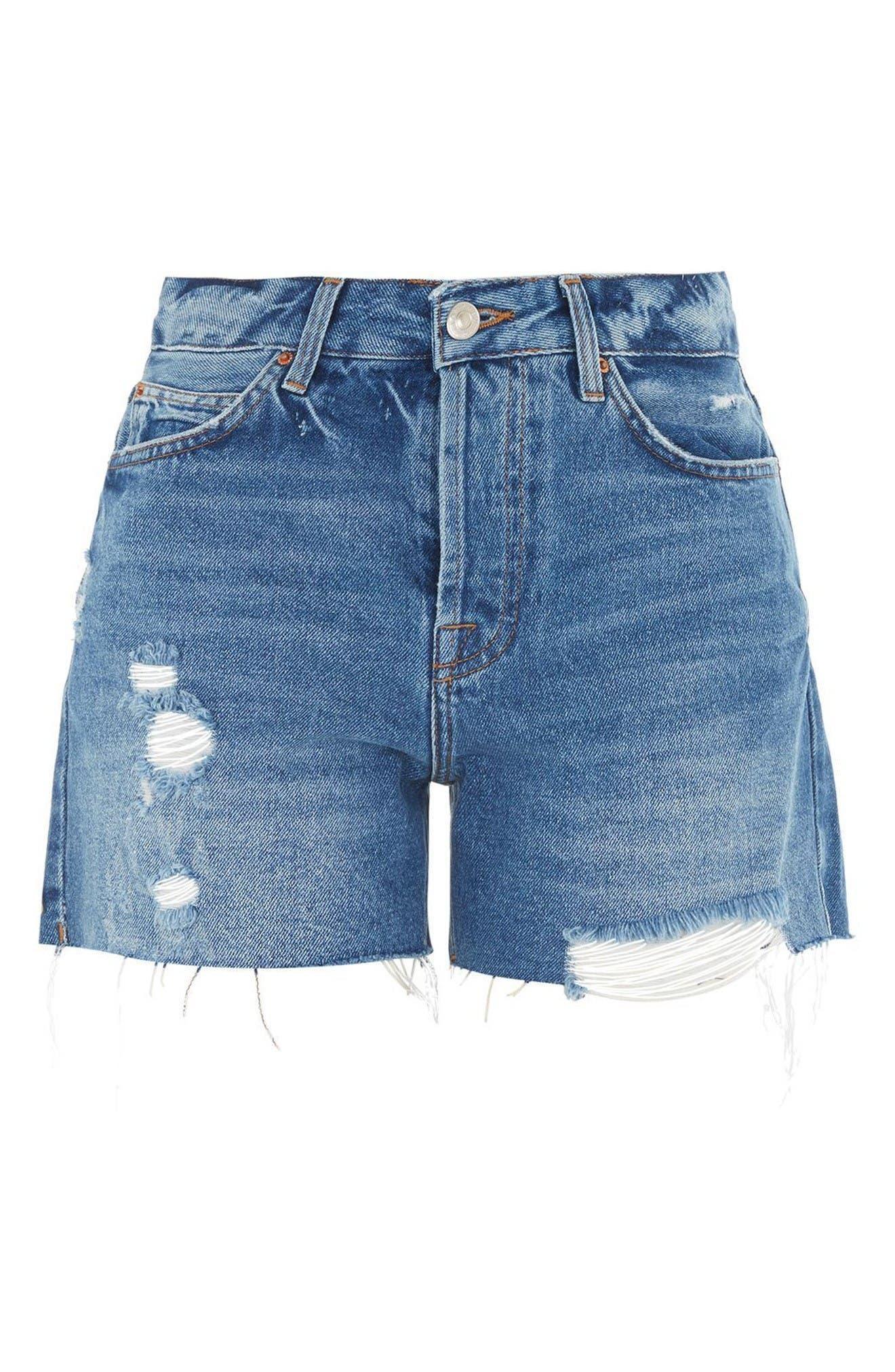 Alternate Image 5  - Topshop Ashley Ripped Boyfriend Shorts (Regular & Petite)