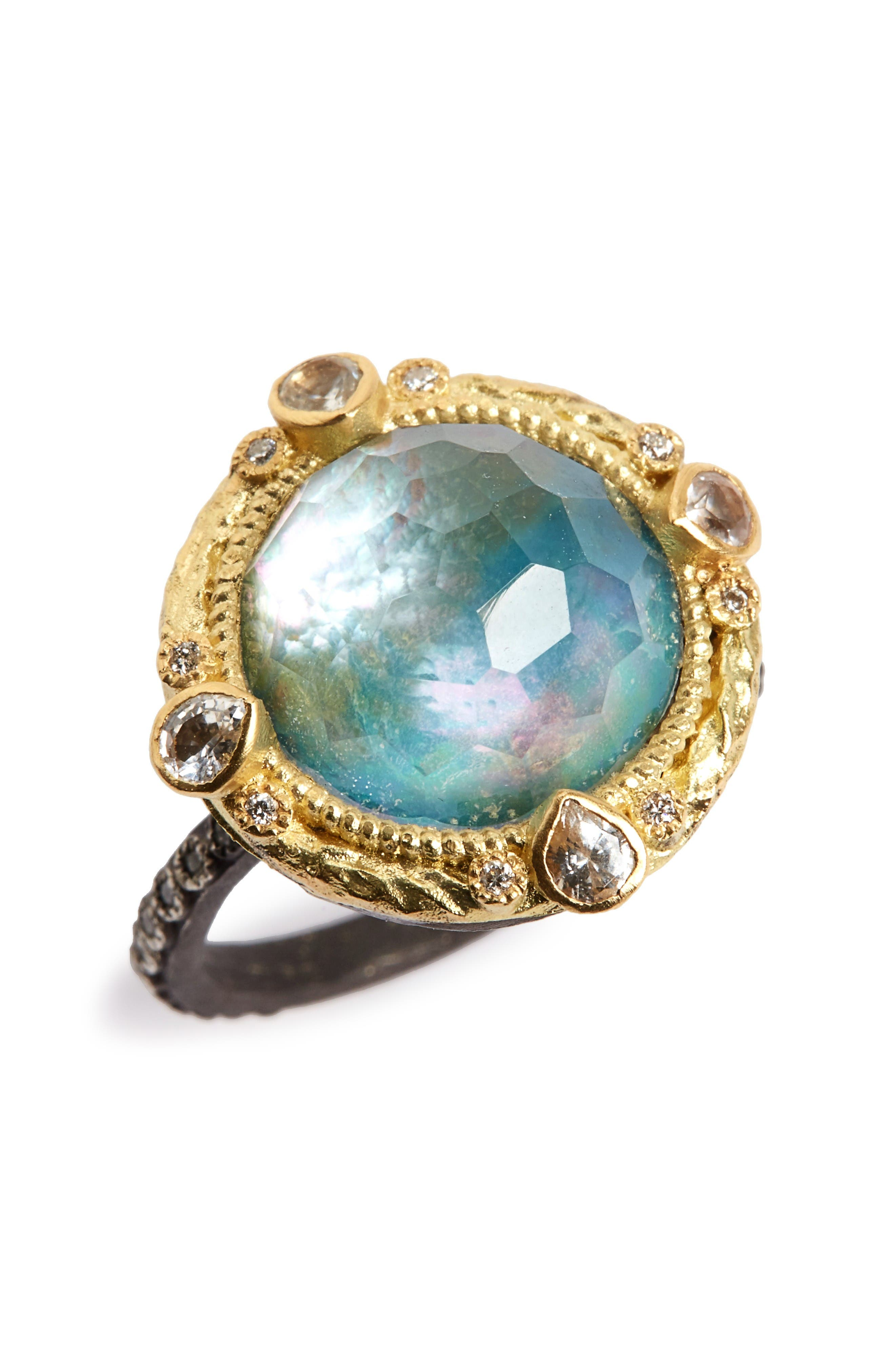 Armenta Old World Opal & Diamond Ring
