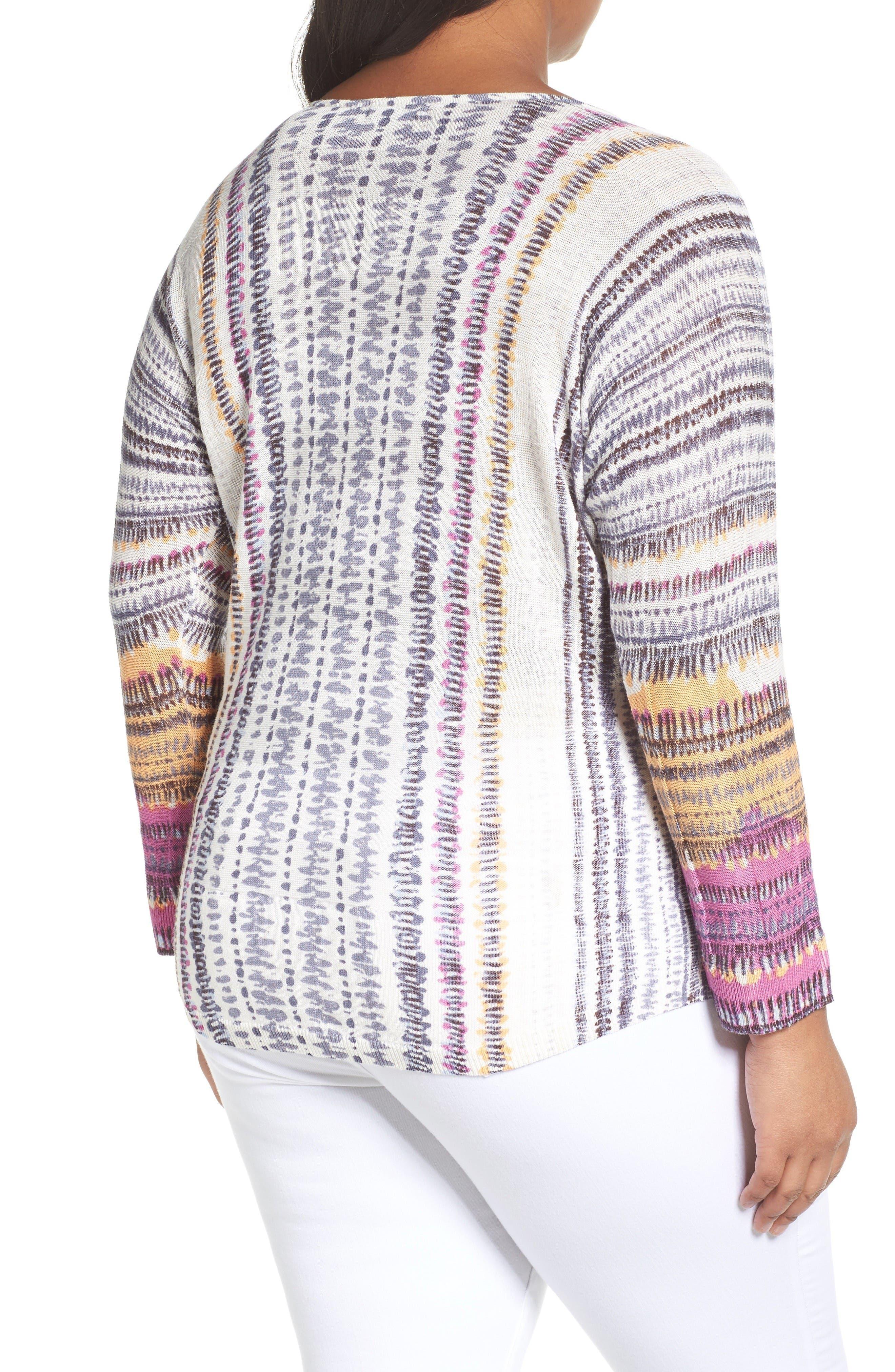 Bright Beat Sweater,                             Alternate thumbnail 2, color,                             Blue Multi