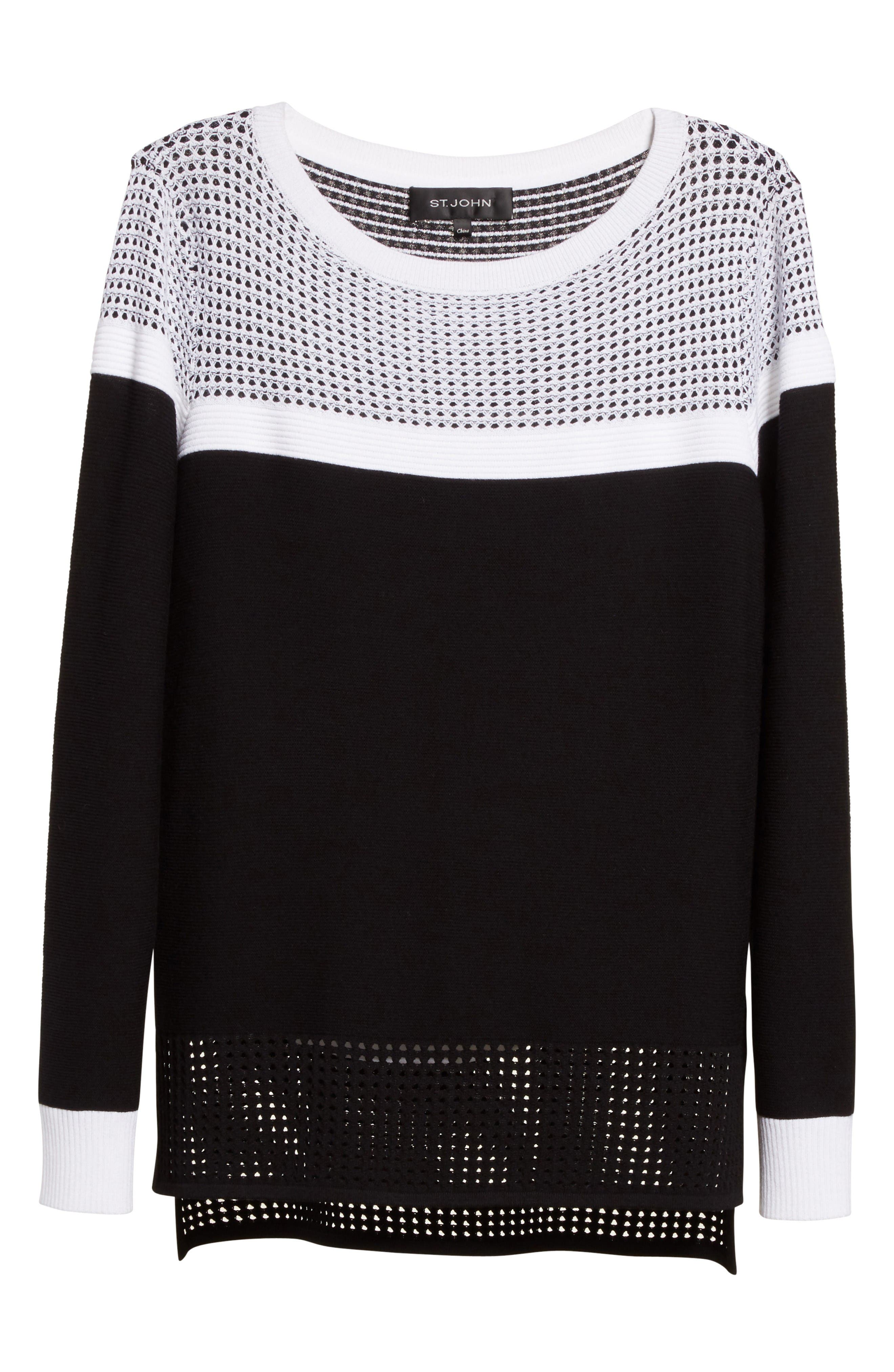 Alternate Image 6  - St. John Collection Technical Mesh Stitch Sweater