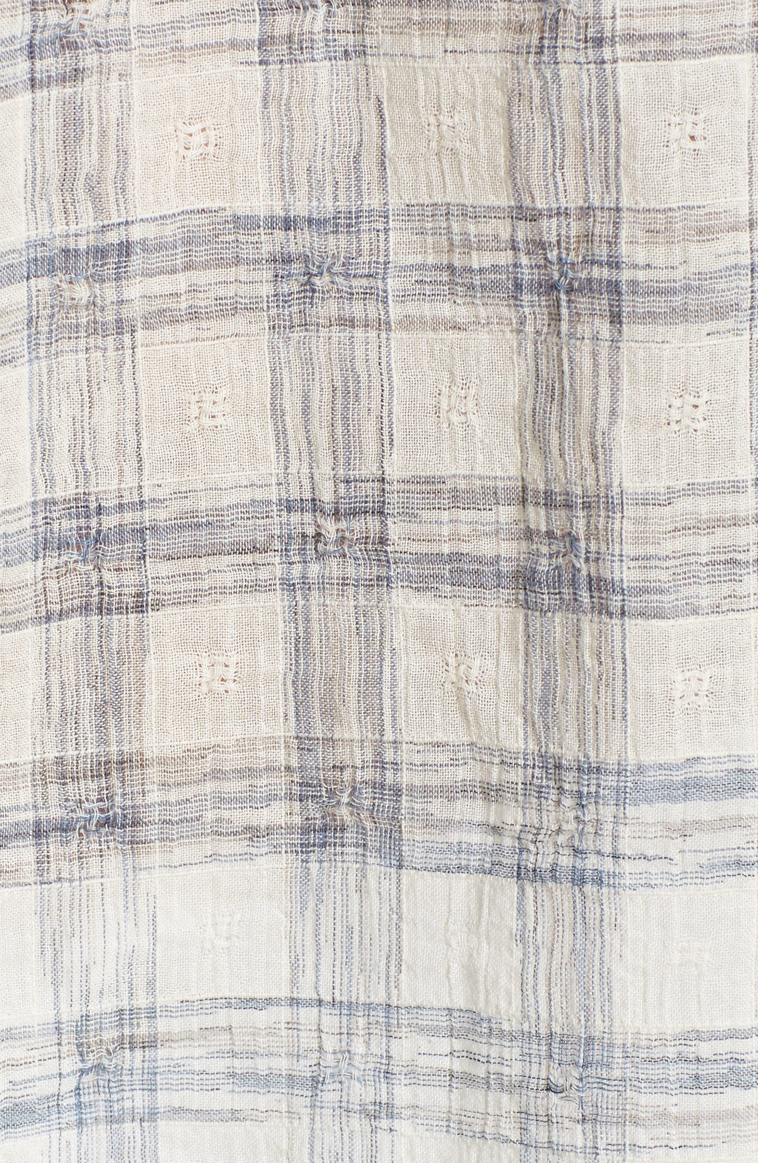 Alternate Image 5  - Caslon® Print Lace-Up Peasant Top