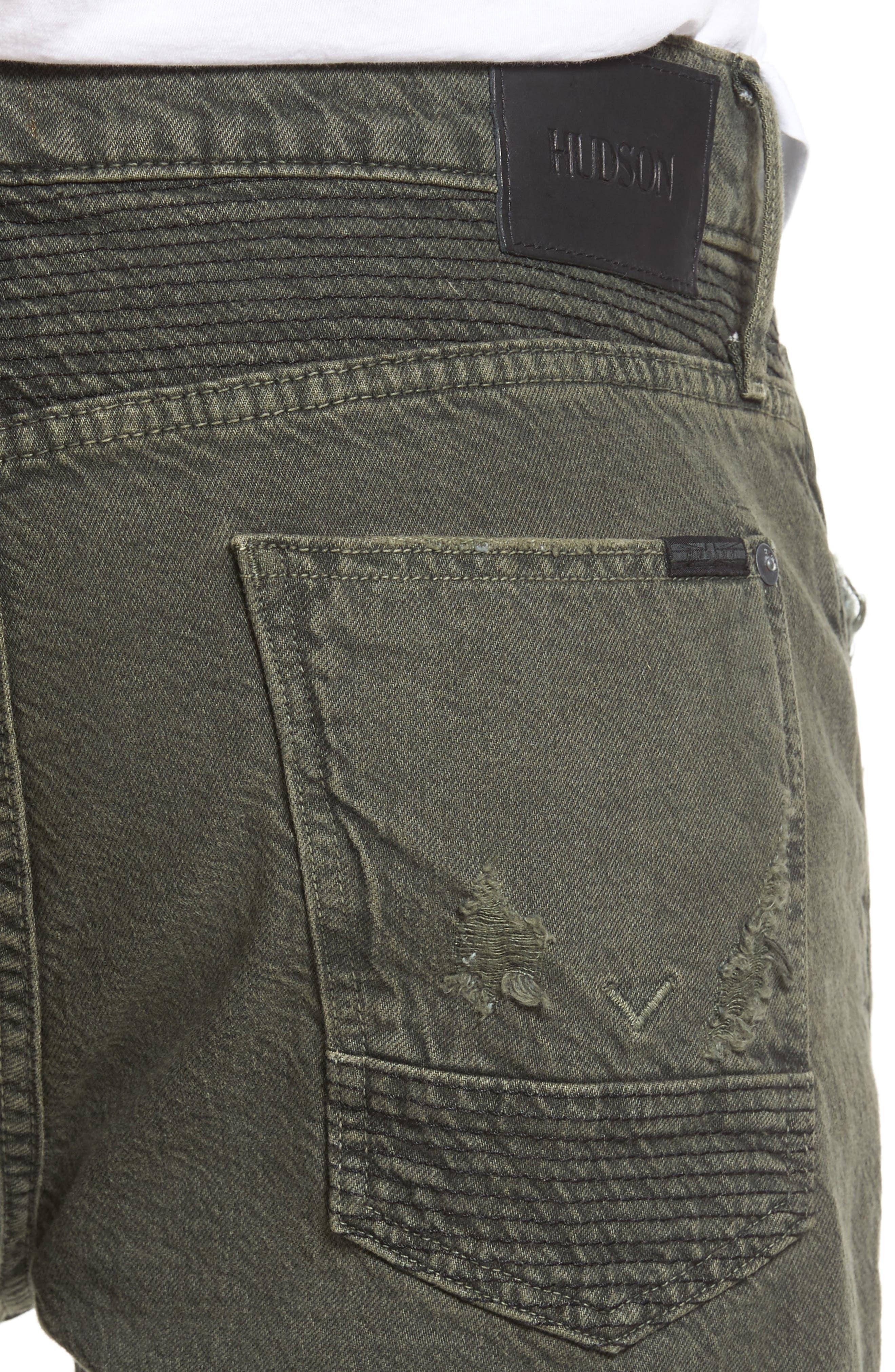 Blinder Biker Skinny Fit Jeans,                             Alternate thumbnail 4, color,                             Fortitude Green