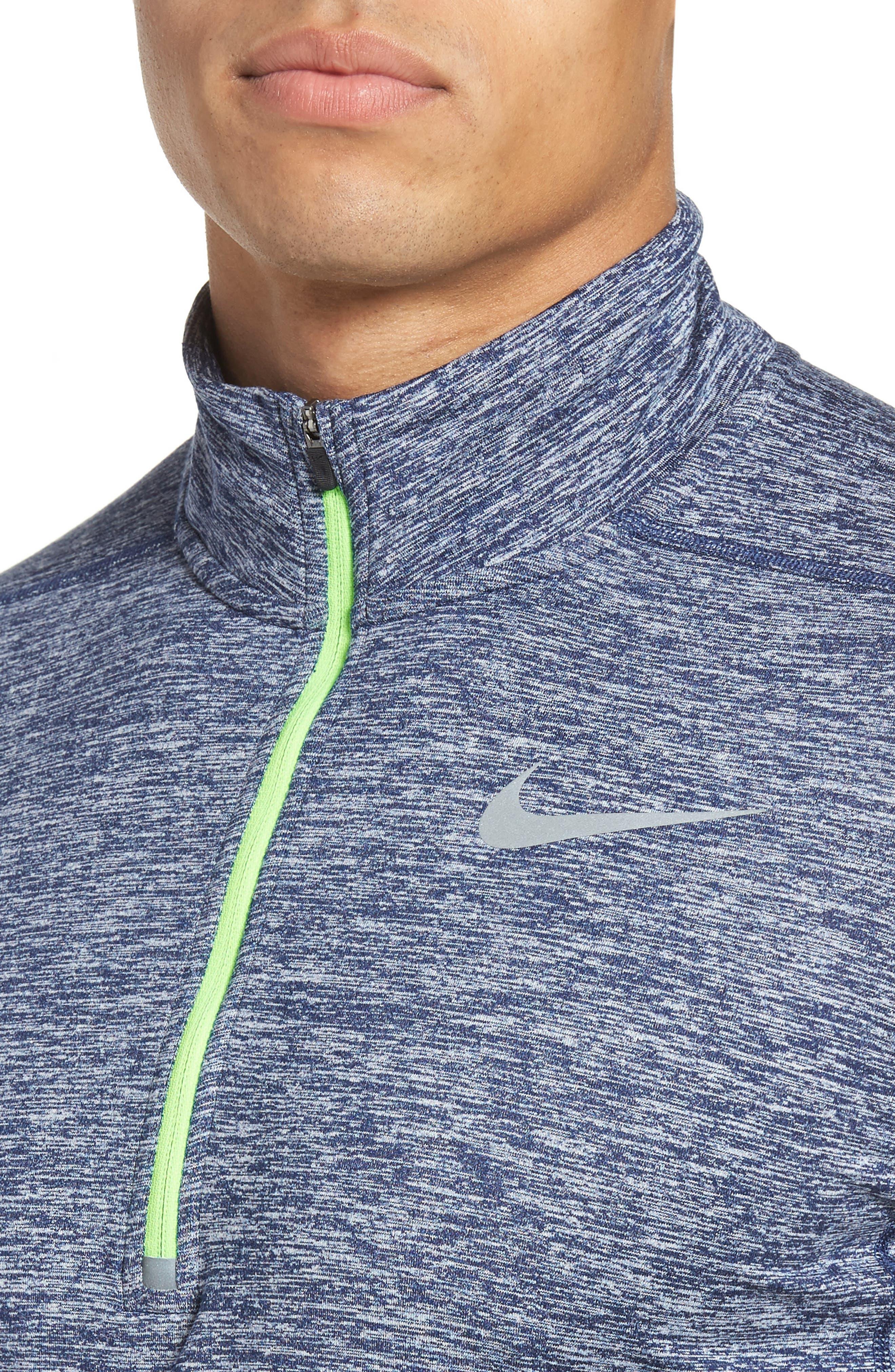 Alternate Image 4  - Nike 'Element' Dri-FIT Quarter Zip Running Top