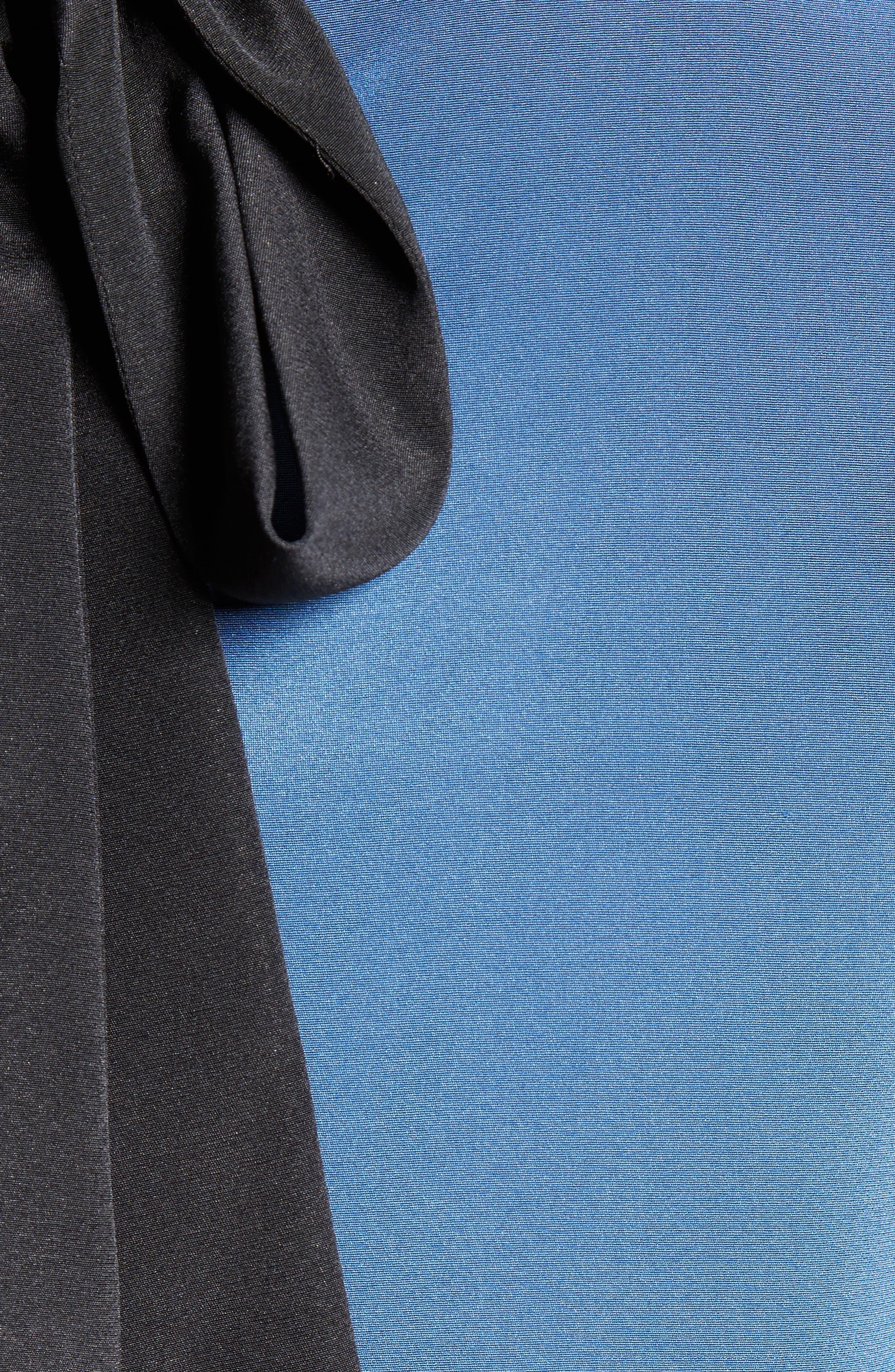 Alternate Image 5  - St. John Collection Back Bow Stretch Silk Blouse