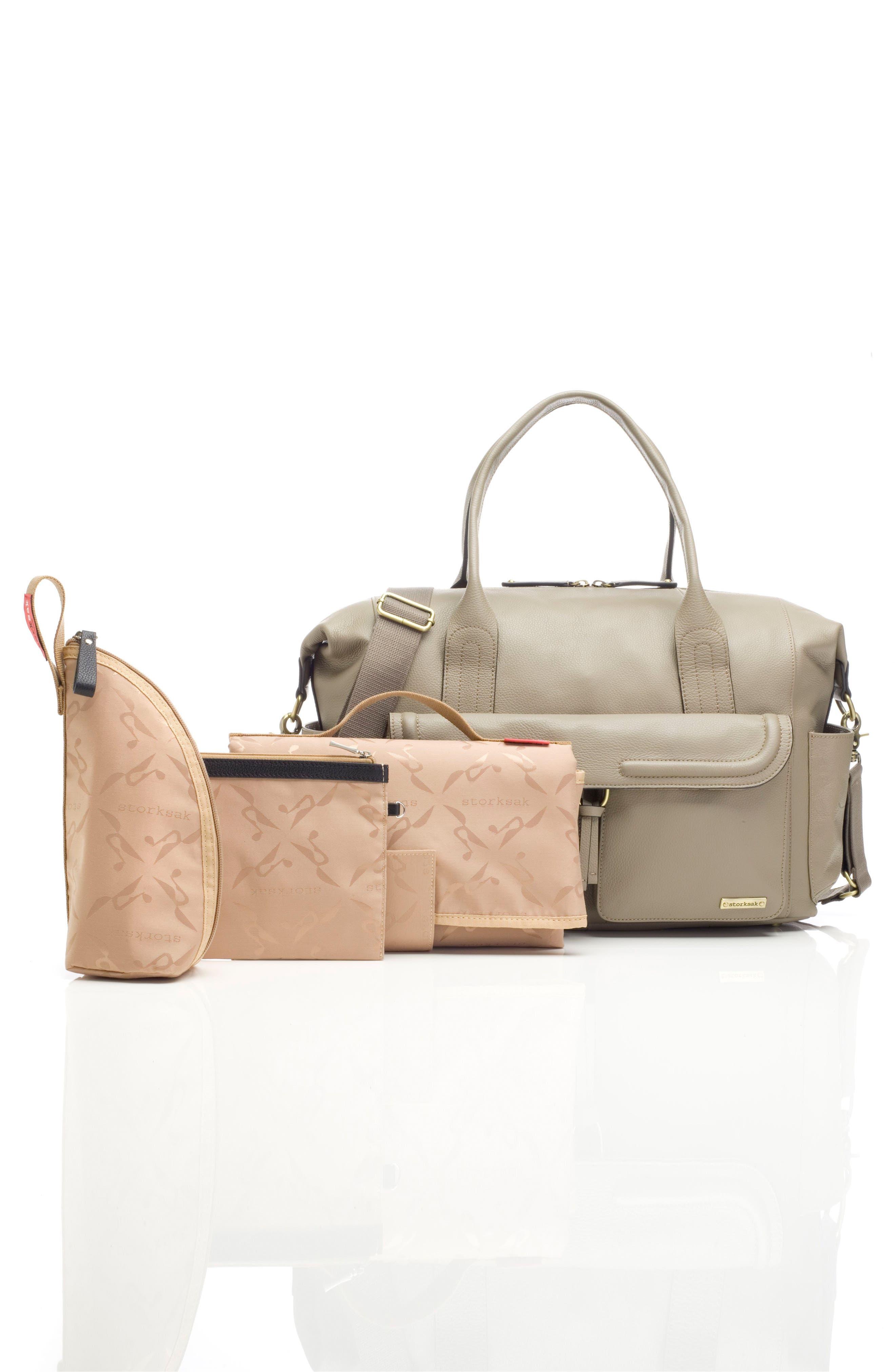 Alternate Image 7  - Storsak Leather Diaper Bag