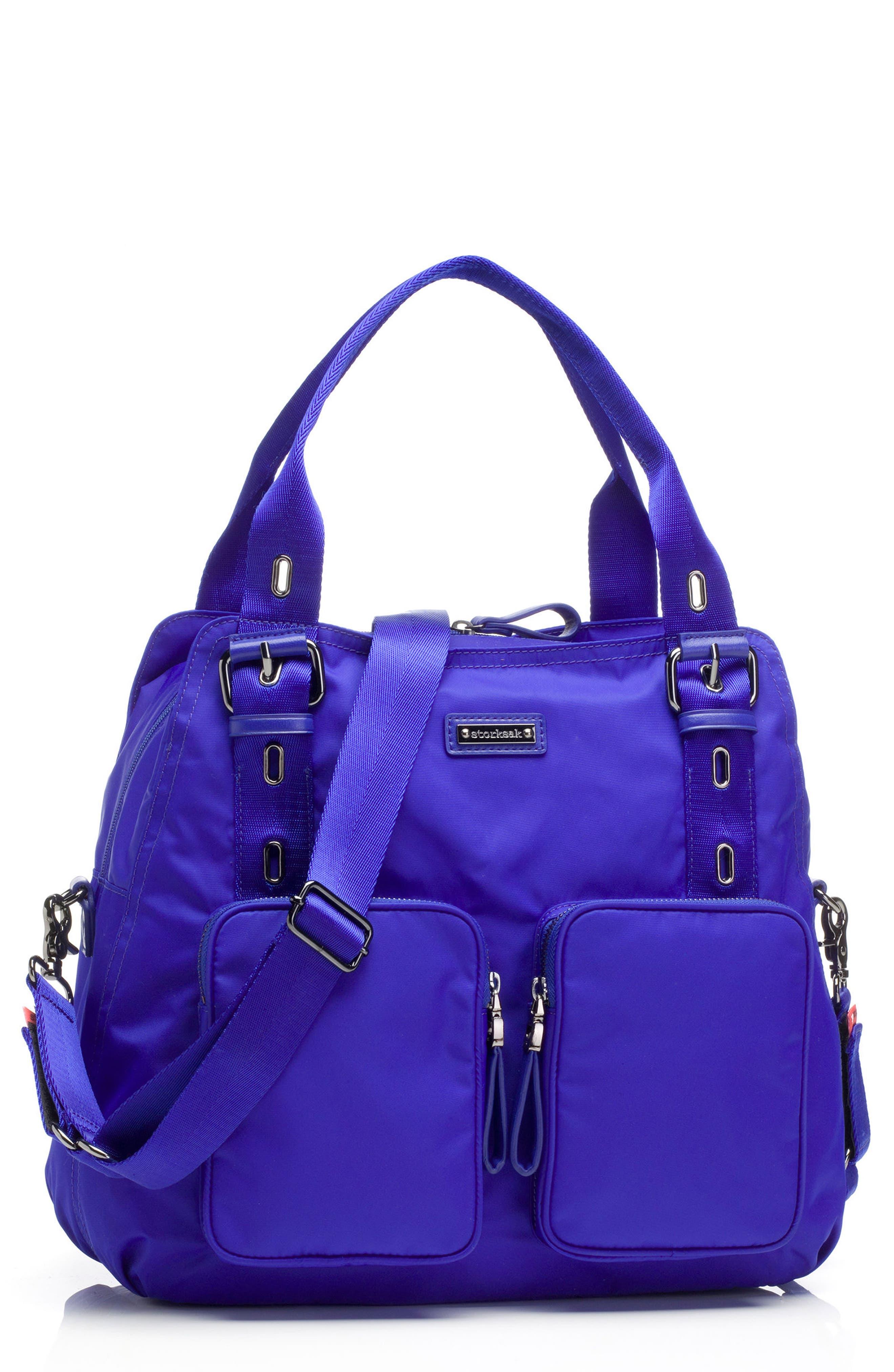 Storsak Alexa Diaper Bag,                         Main,                         color, Indigo