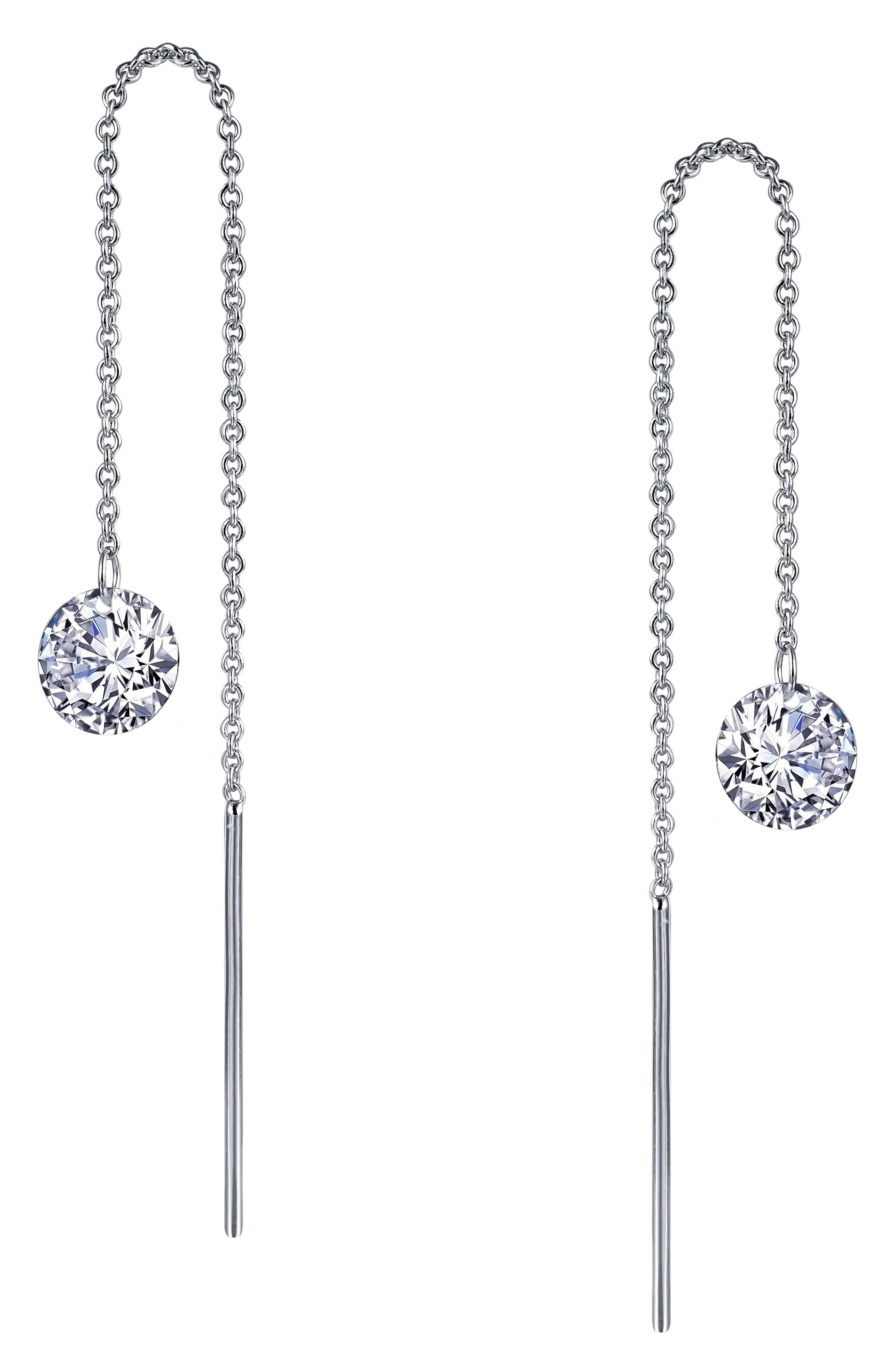 Main Image - Lafonn Simulated Diamond Threader Earrings