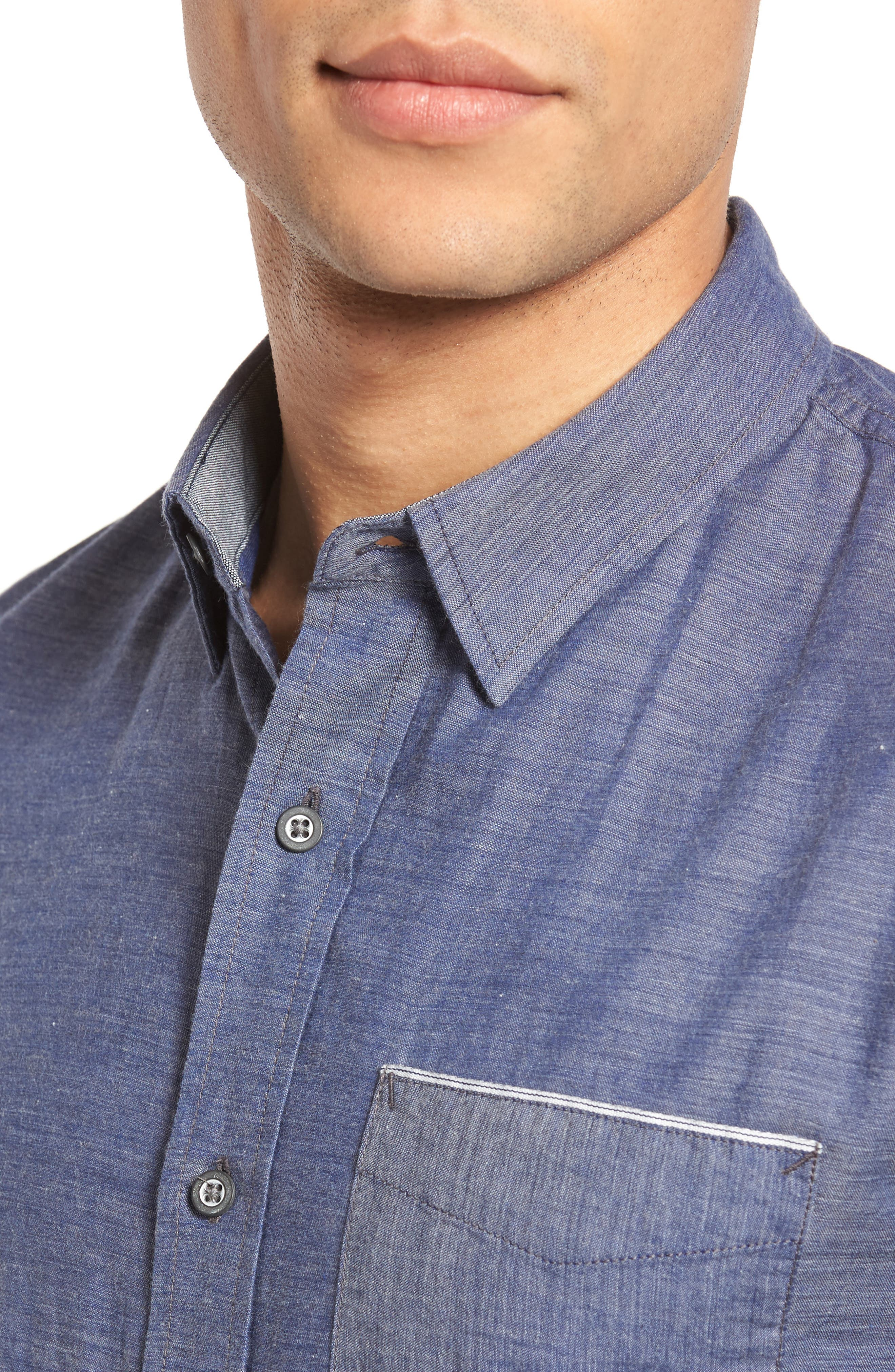 Alternate Image 4  - AG Colton Trim Fit Sport Shirt