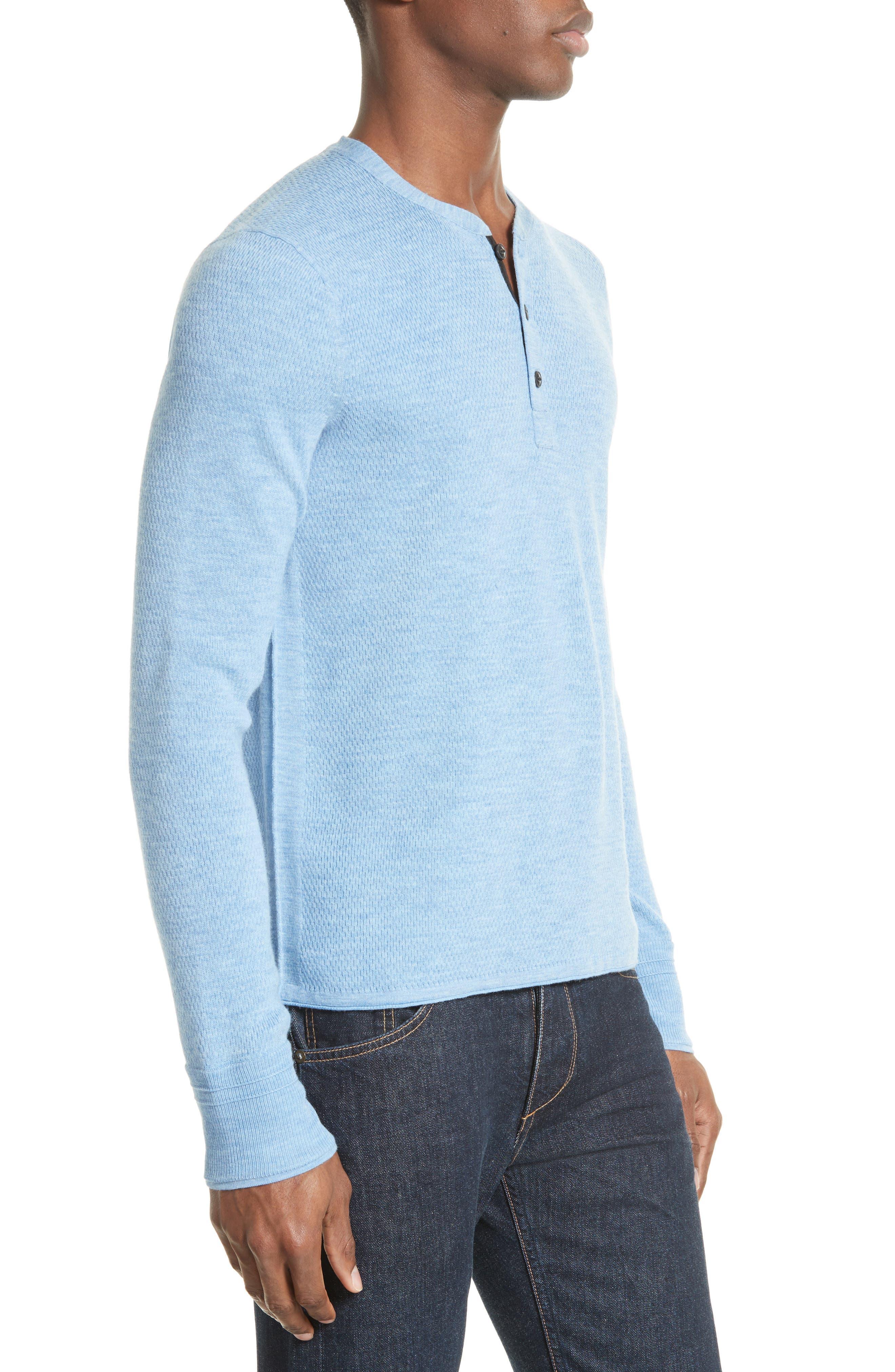 Alternate Image 3  - rag & bone Gregory Wool Blend Henley Sweater