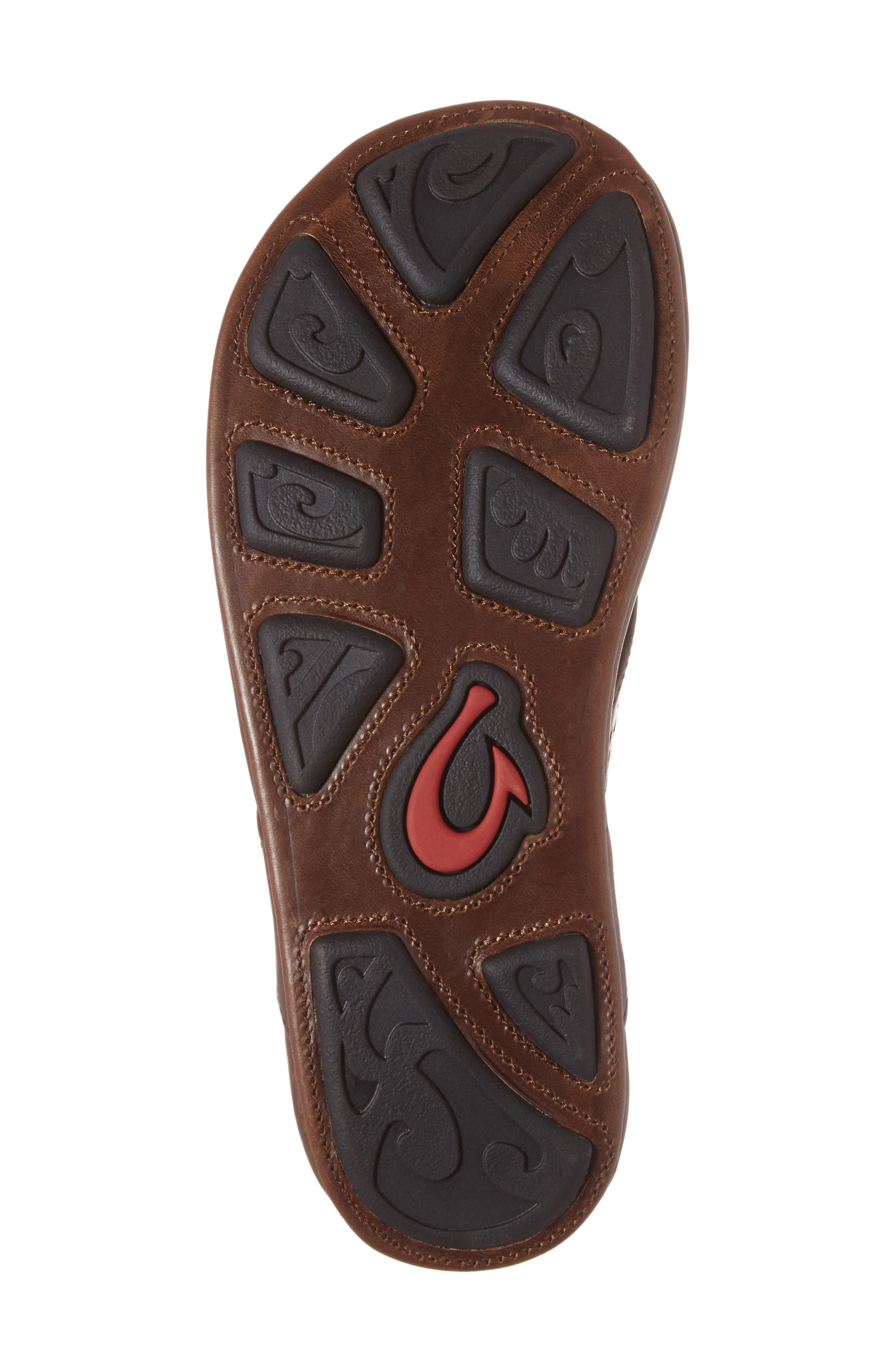 Kohana Flip Flop,                             Alternate thumbnail 4, color,                             Toffee/ Toffee Leather