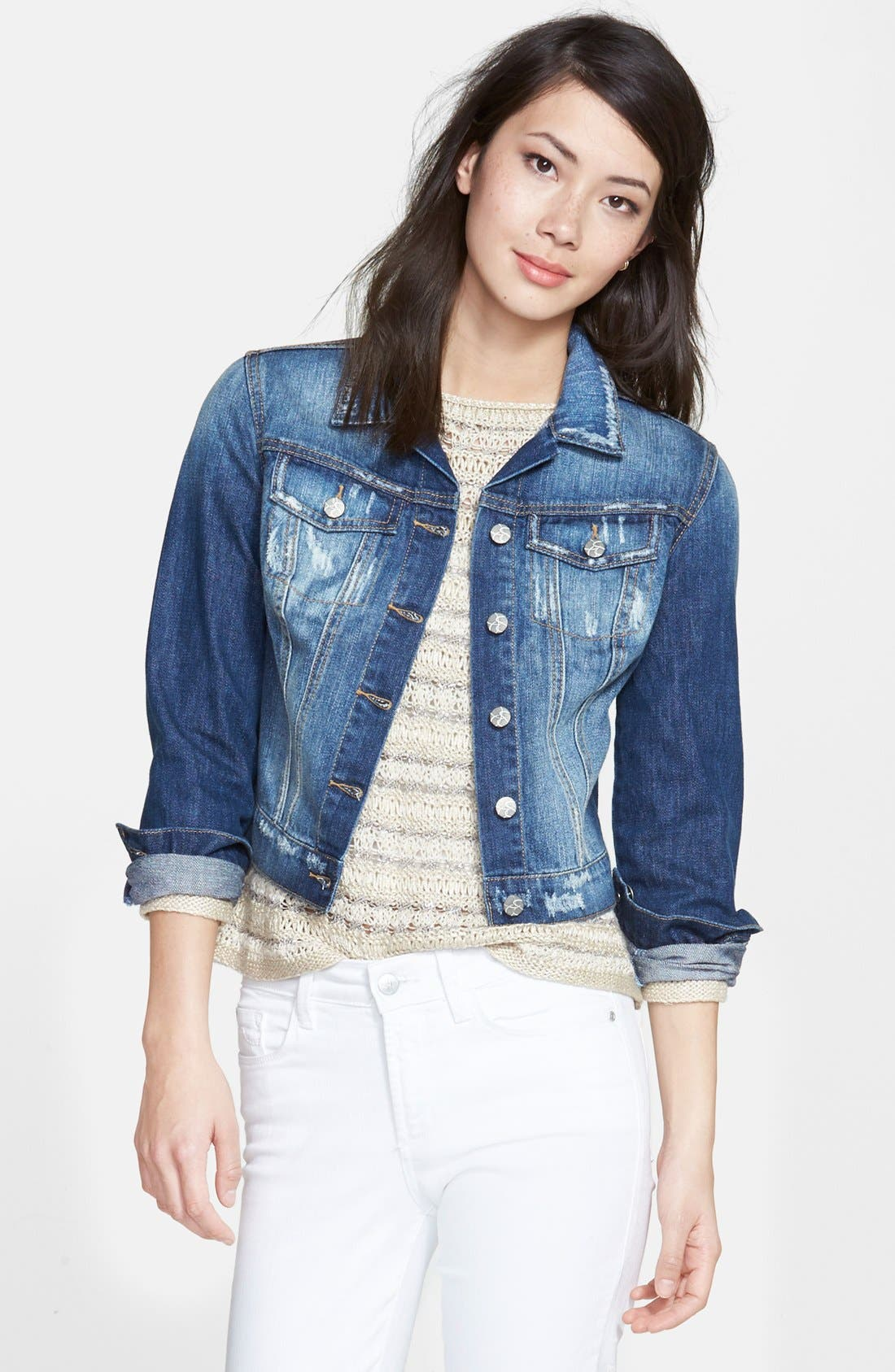 Alternate Image 1 Selected - Jessica Simpson 'Pixie' Denim Jacket
