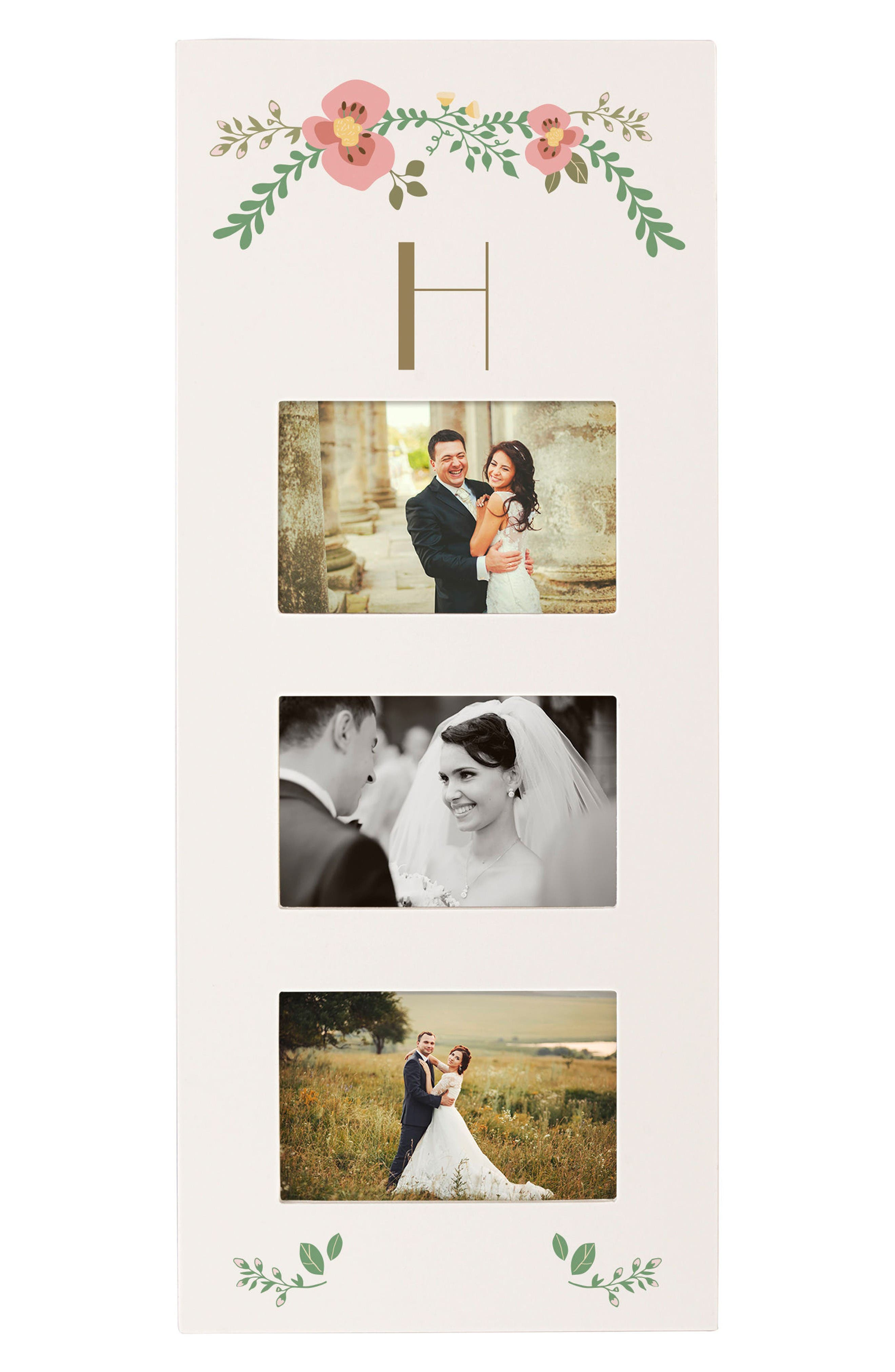 Monogram 3-Window Picture Frame,                         Main,                         color, H