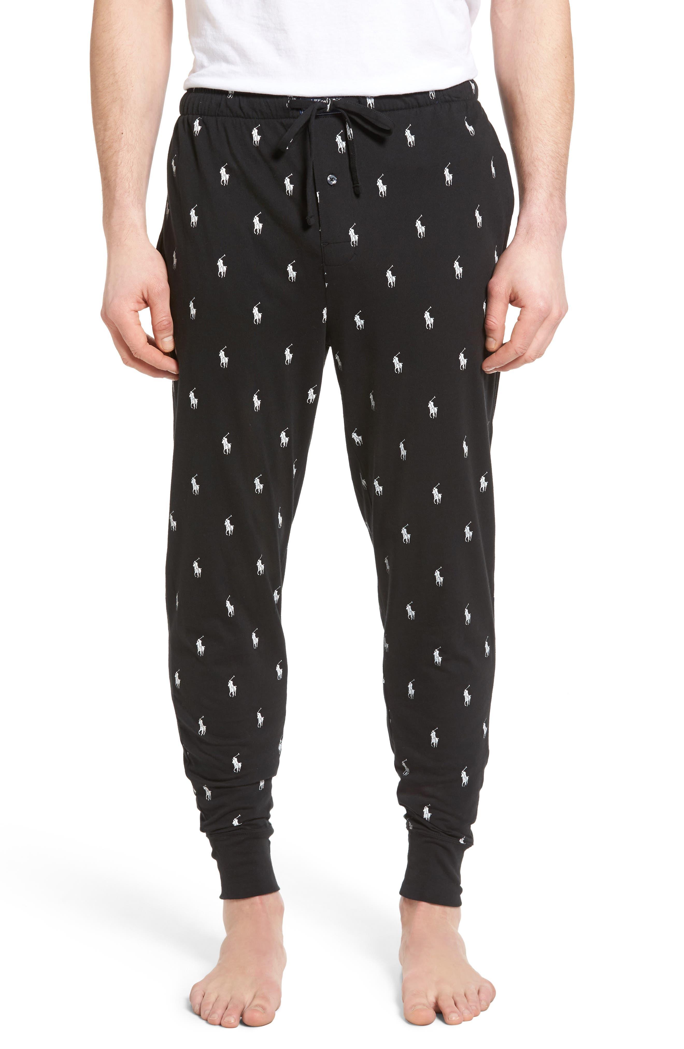 Knit Pony Lounge Pants,                         Main,                         color, Black