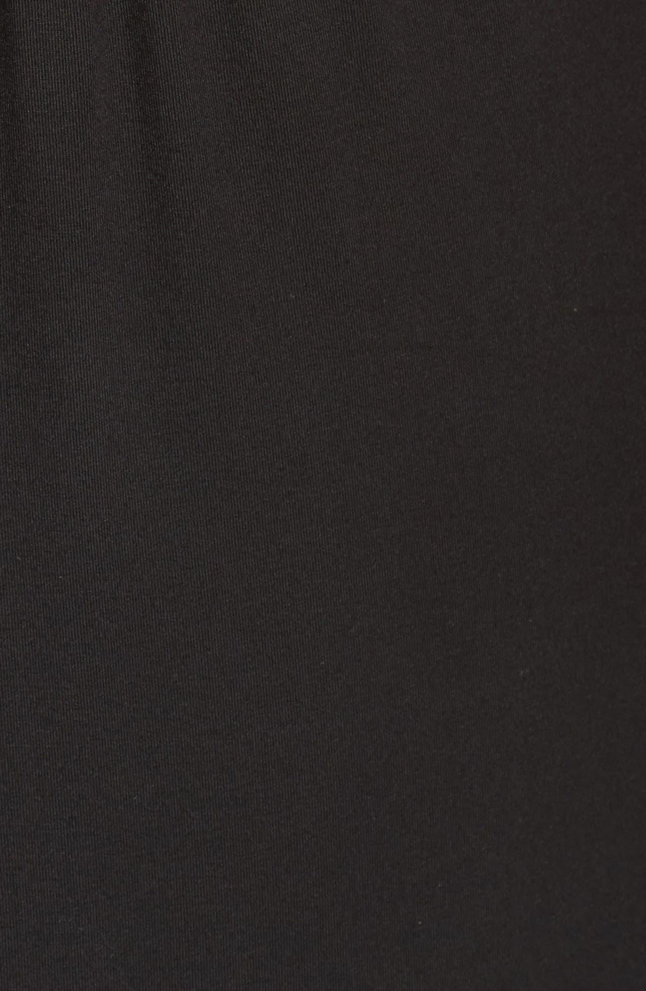 Surplice Maxi Dress,                             Alternate thumbnail 5, color,                             Black