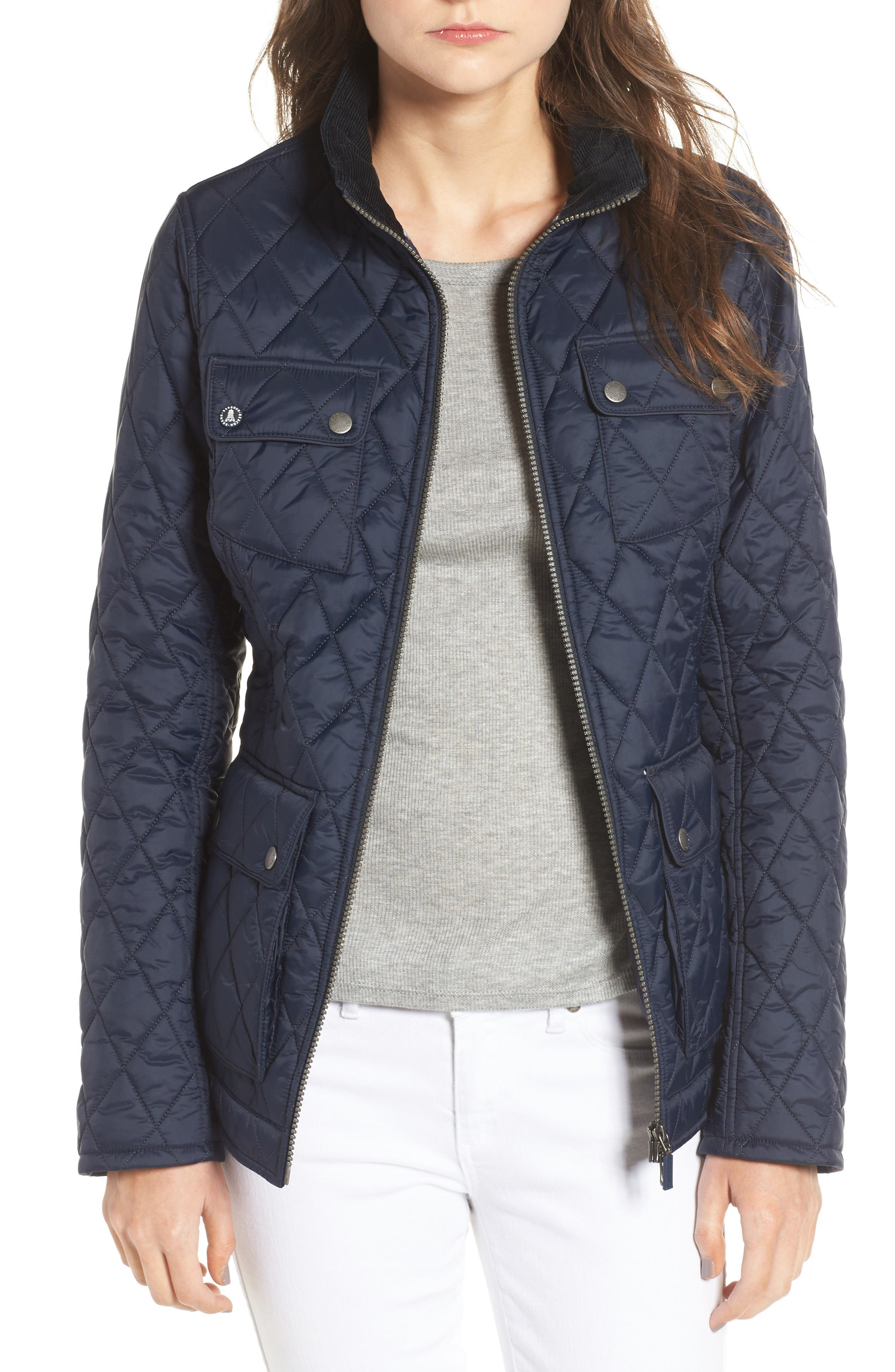 Dolostone Quilted Jacket,                             Main thumbnail 1, color,                             Dark Navy