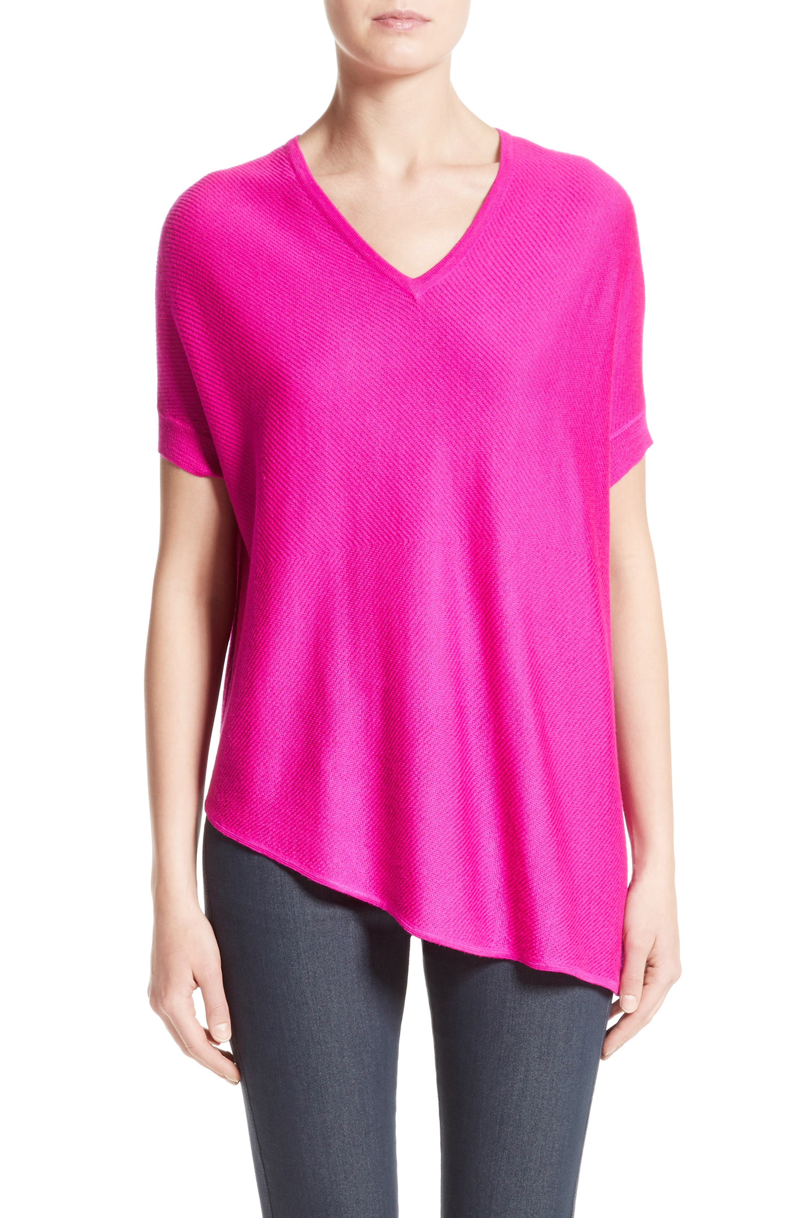 Alternate Image 1 Selected - St. John Collection Matte Shine Weave Knit Tunic