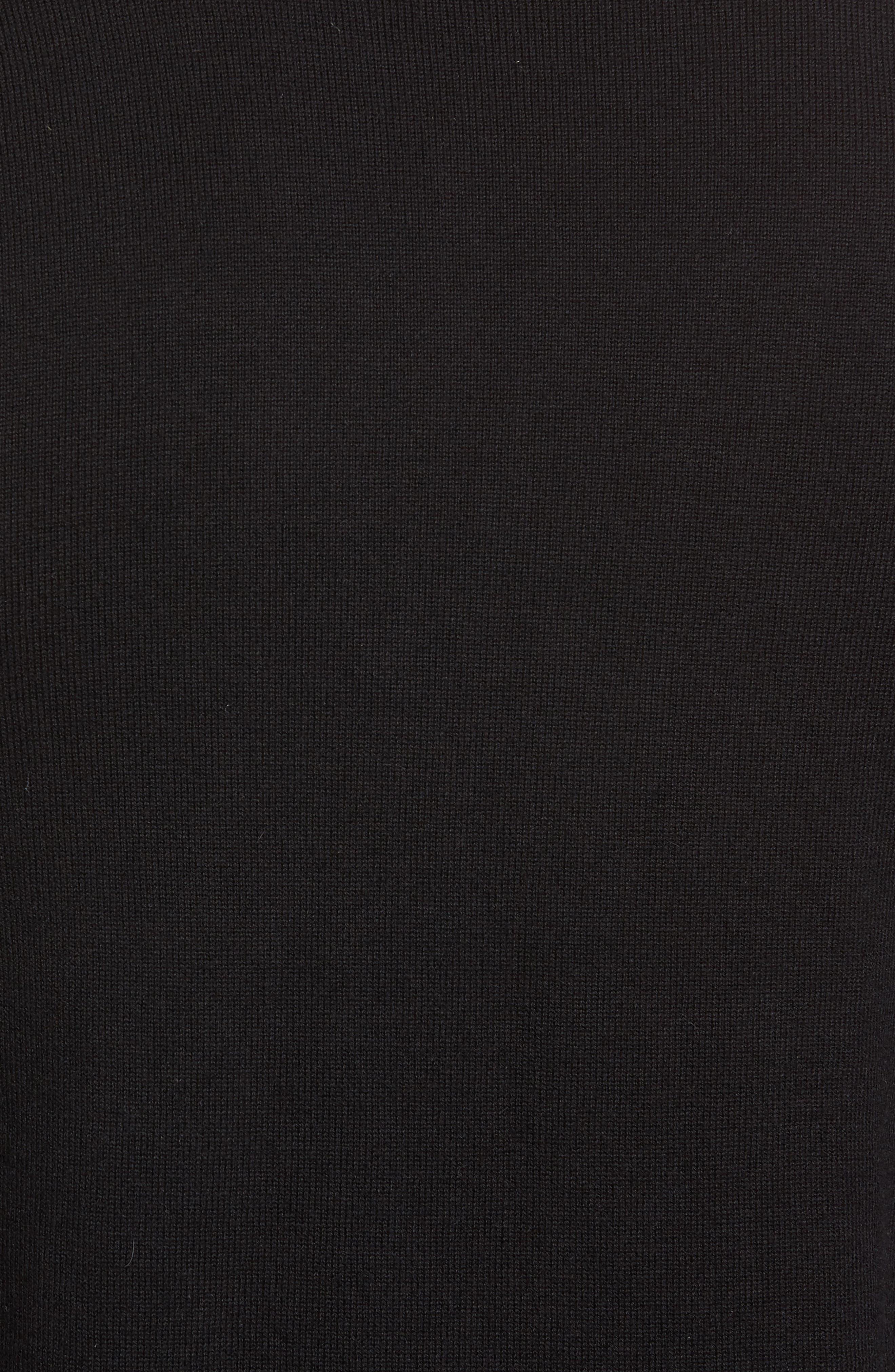 Cedric Cotton & Cashmere Sweater,                             Alternate thumbnail 5, color,                             La Nouvelle Vague True Black