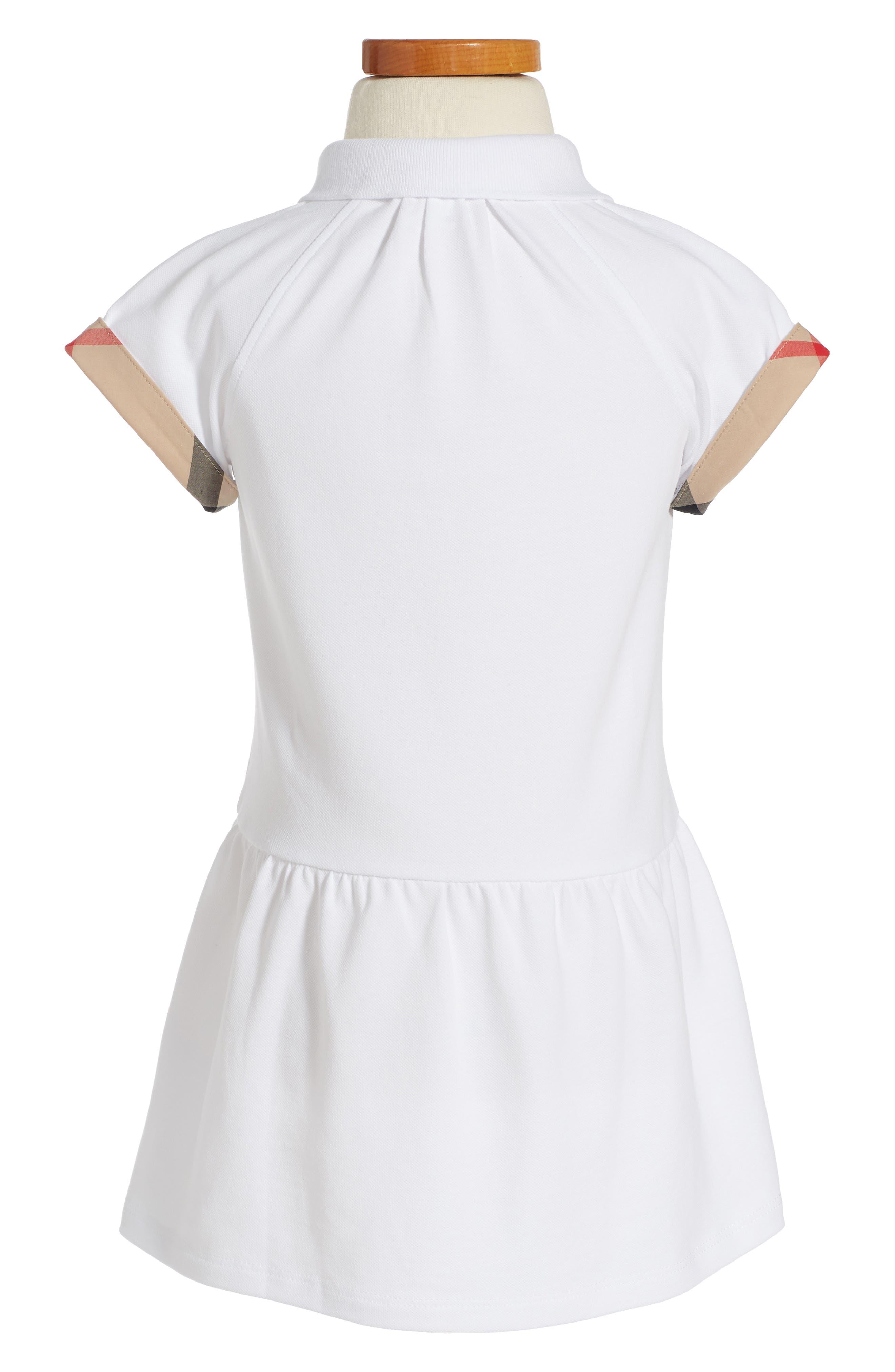 Mini Cali Polo Dress,                             Alternate thumbnail 2, color,                             White