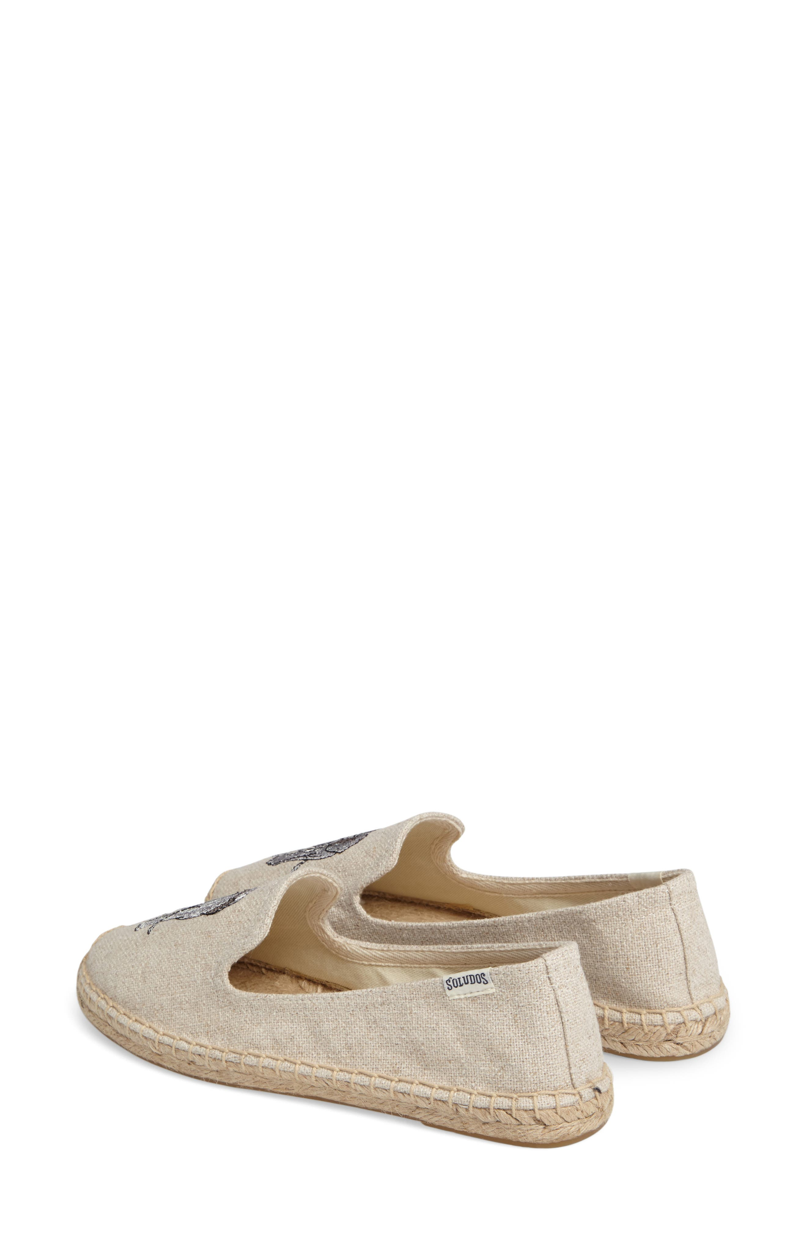 Espadrille Slip-On,                             Alternate thumbnail 3, color,                             Sand Canvas