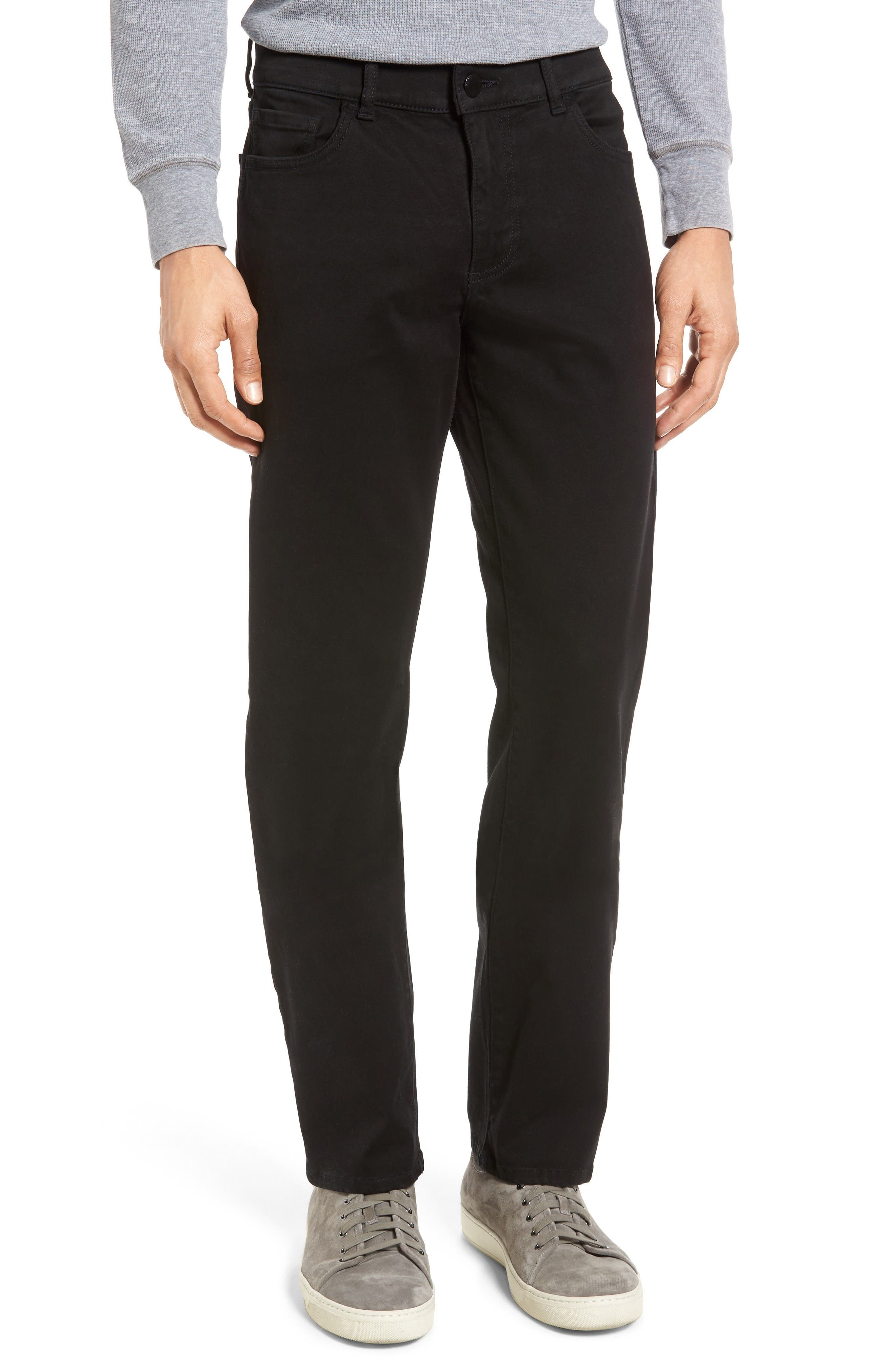 Russell Slim Fit Sateen Twill Pants,                         Main,                         color, Coal