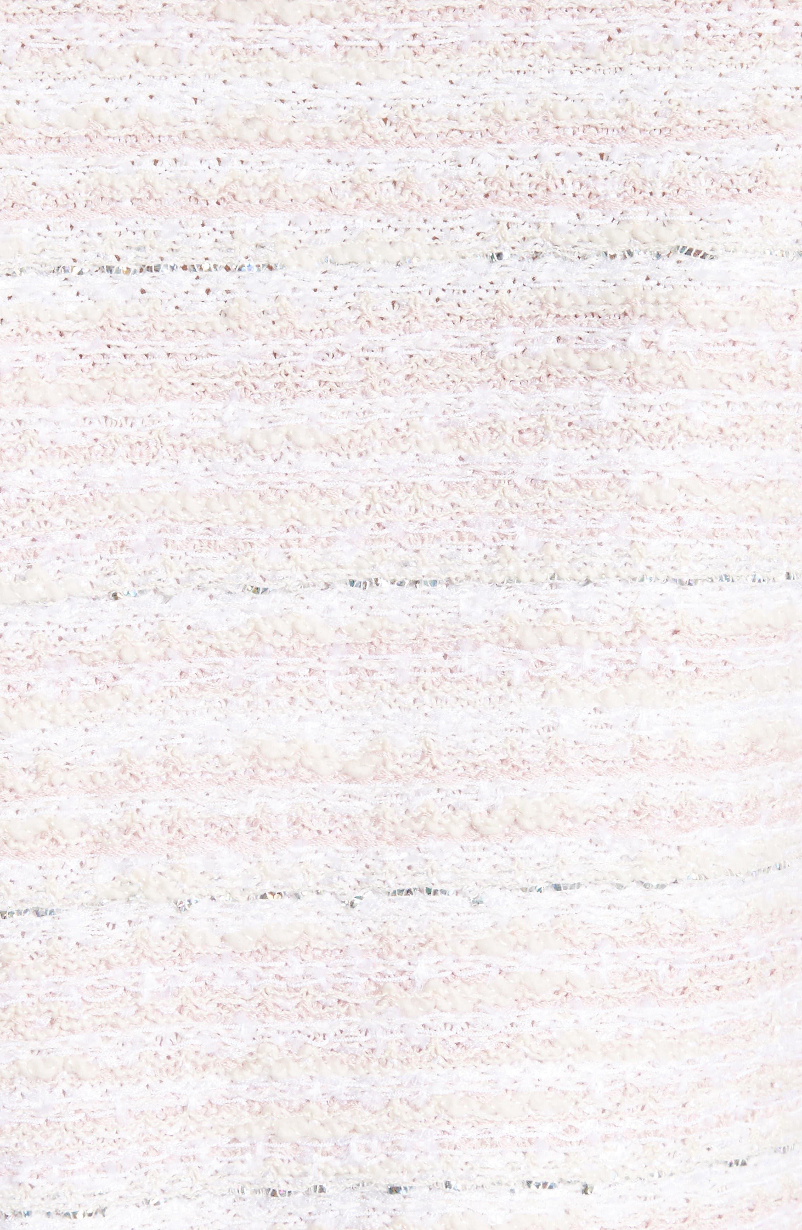 Alternate Image 5  - St. John Collection Padmesh Tweed Knit Fringe Jacket