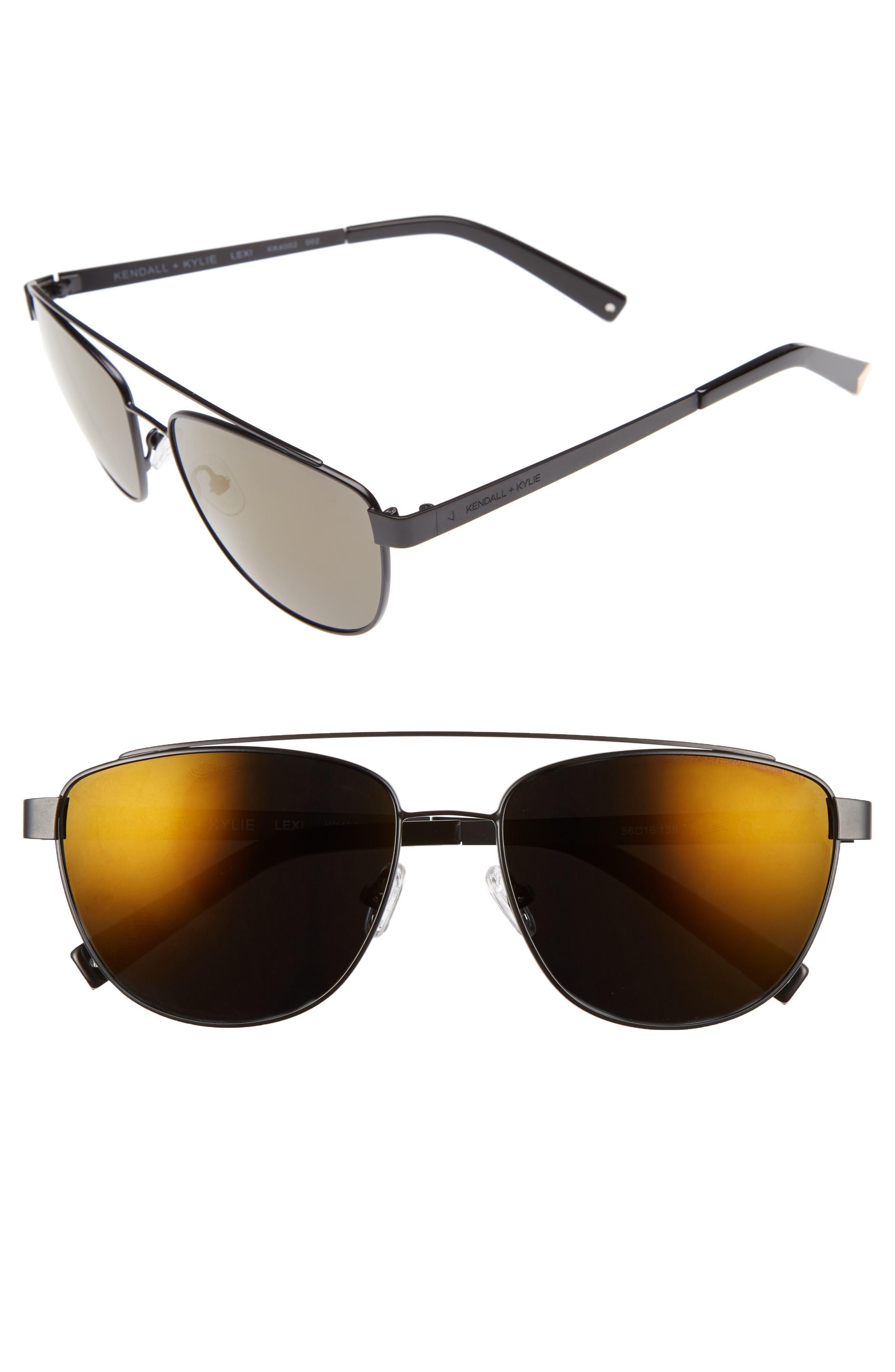 KENDALL + KYLIE Lexi 56mm Navigator Sunglasses