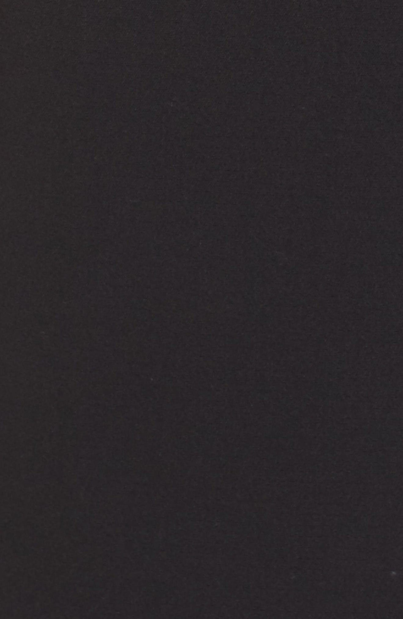 Crepe Sheath Dress,                             Alternate thumbnail 6, color,                             Black