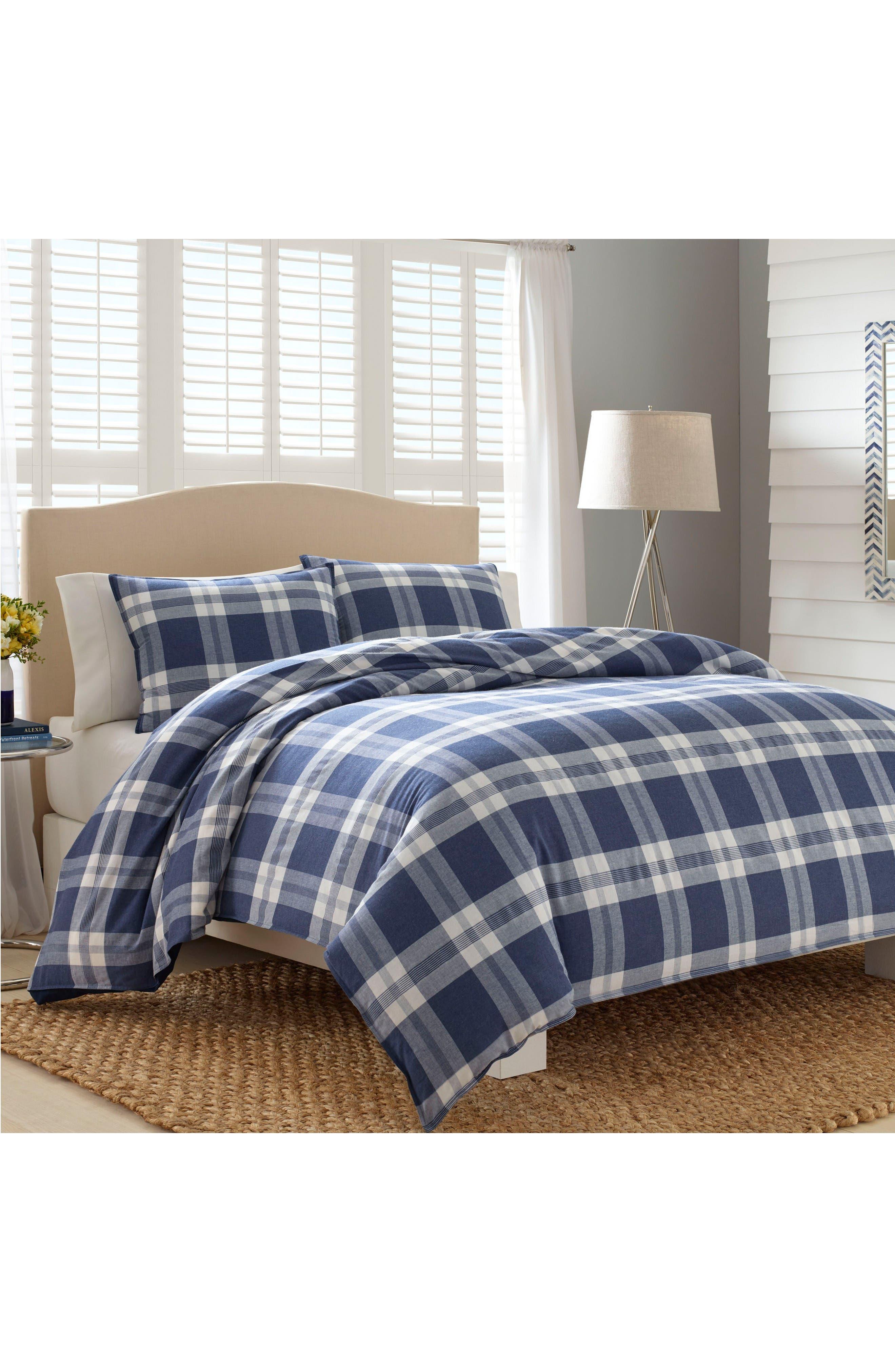 Cunningham Comforter & Sham Set,                         Main,                         color, Blue