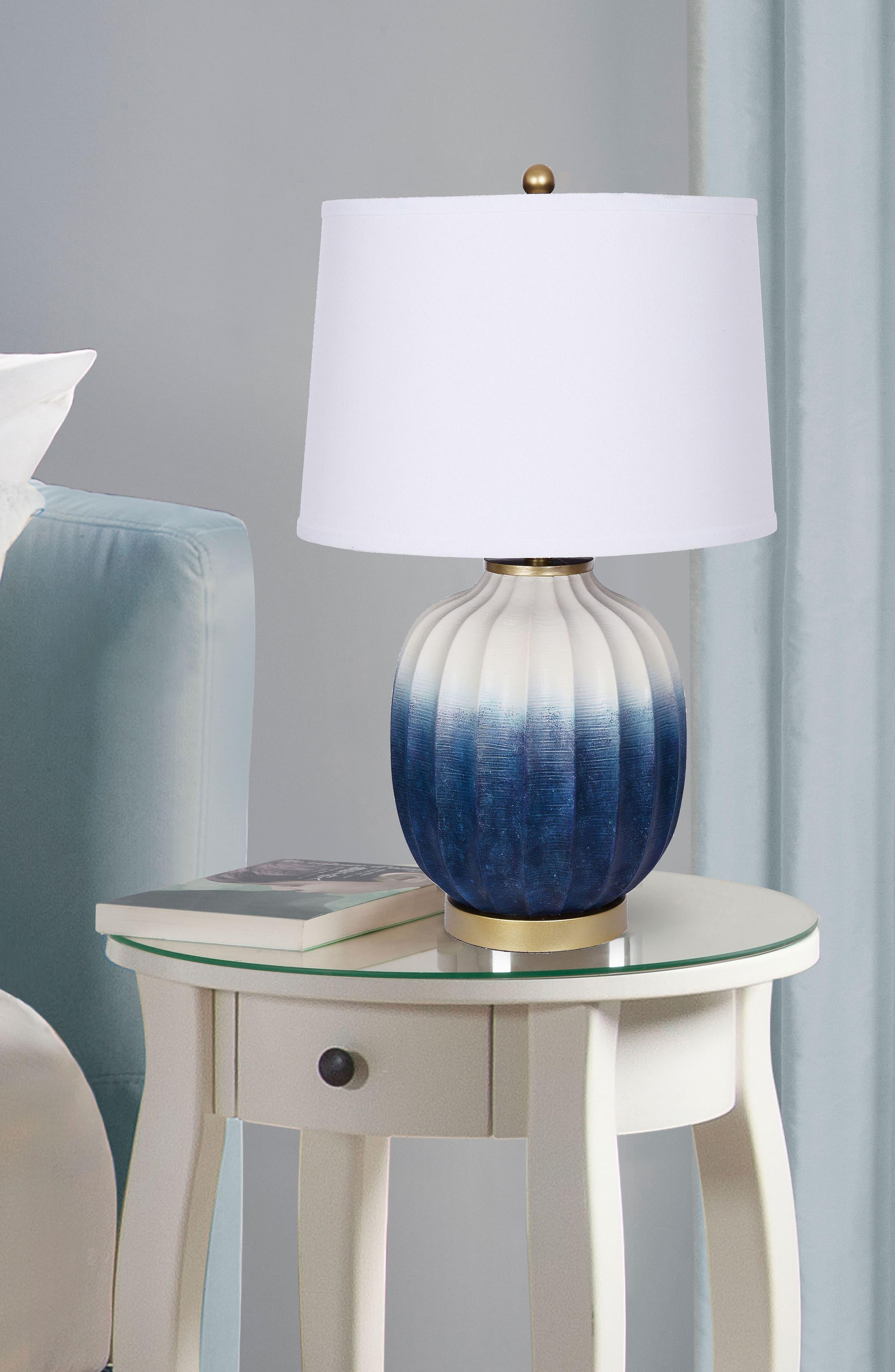 JAlexander Ombré Table Lamp,                             Alternate thumbnail 2, color,                             Blue