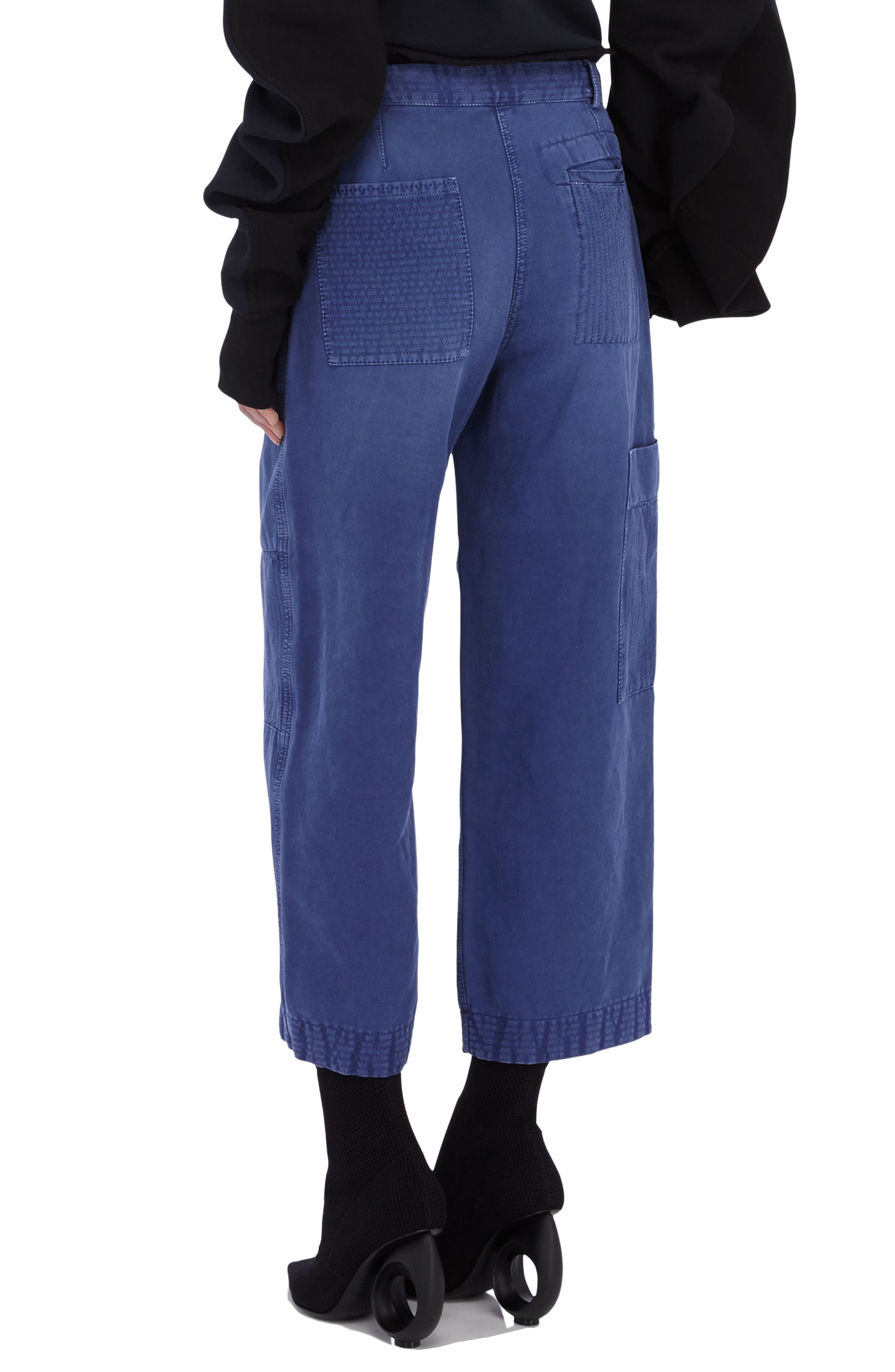 Alternate Image 4  - Burberry Crop Workwear Pants