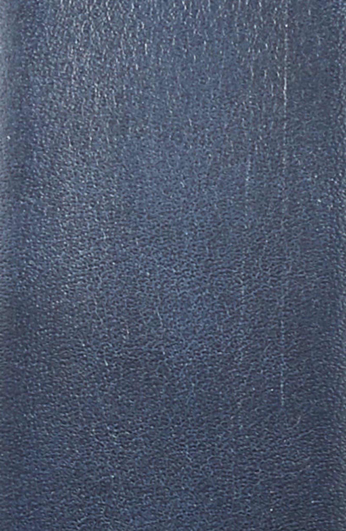 Leather Belt,                             Alternate thumbnail 2, color,                             Navy