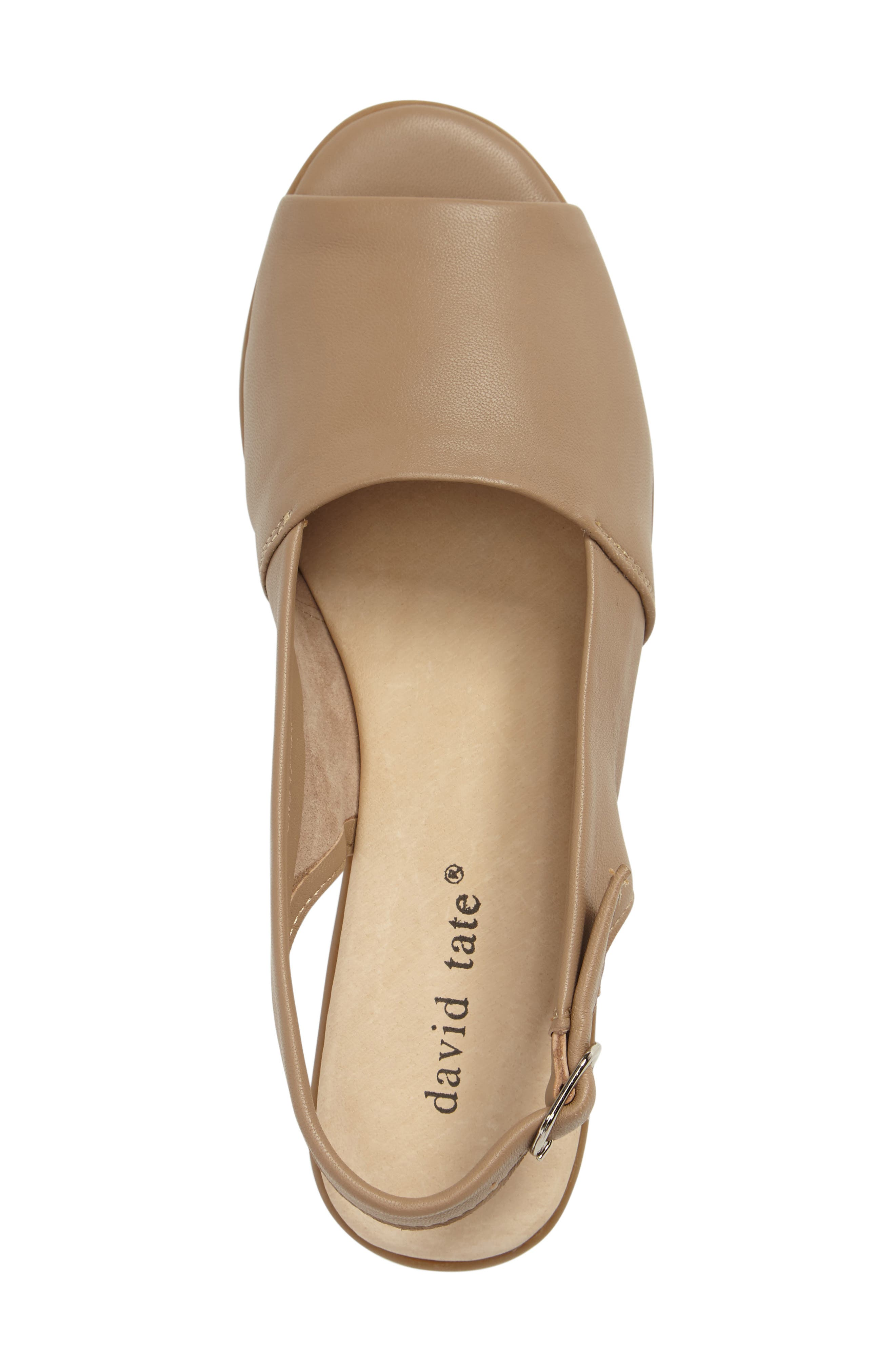 Norma Slingback Sandal,                             Alternate thumbnail 3, color,                             Camel Leather
