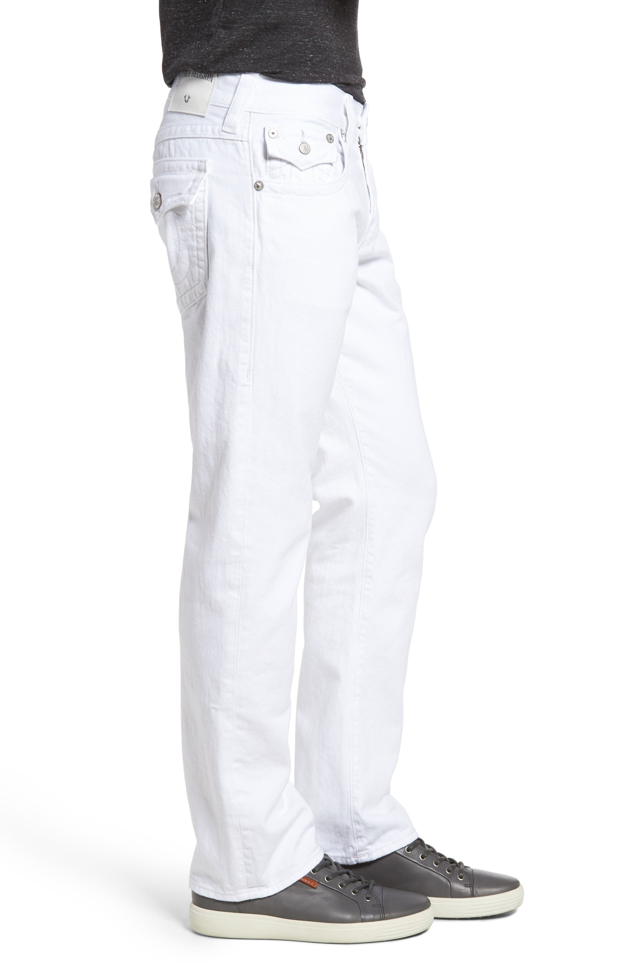 Alternate Image 3  - True Religion Brand Jeans Ricky Relaxed Fit Jeans (Optic White)