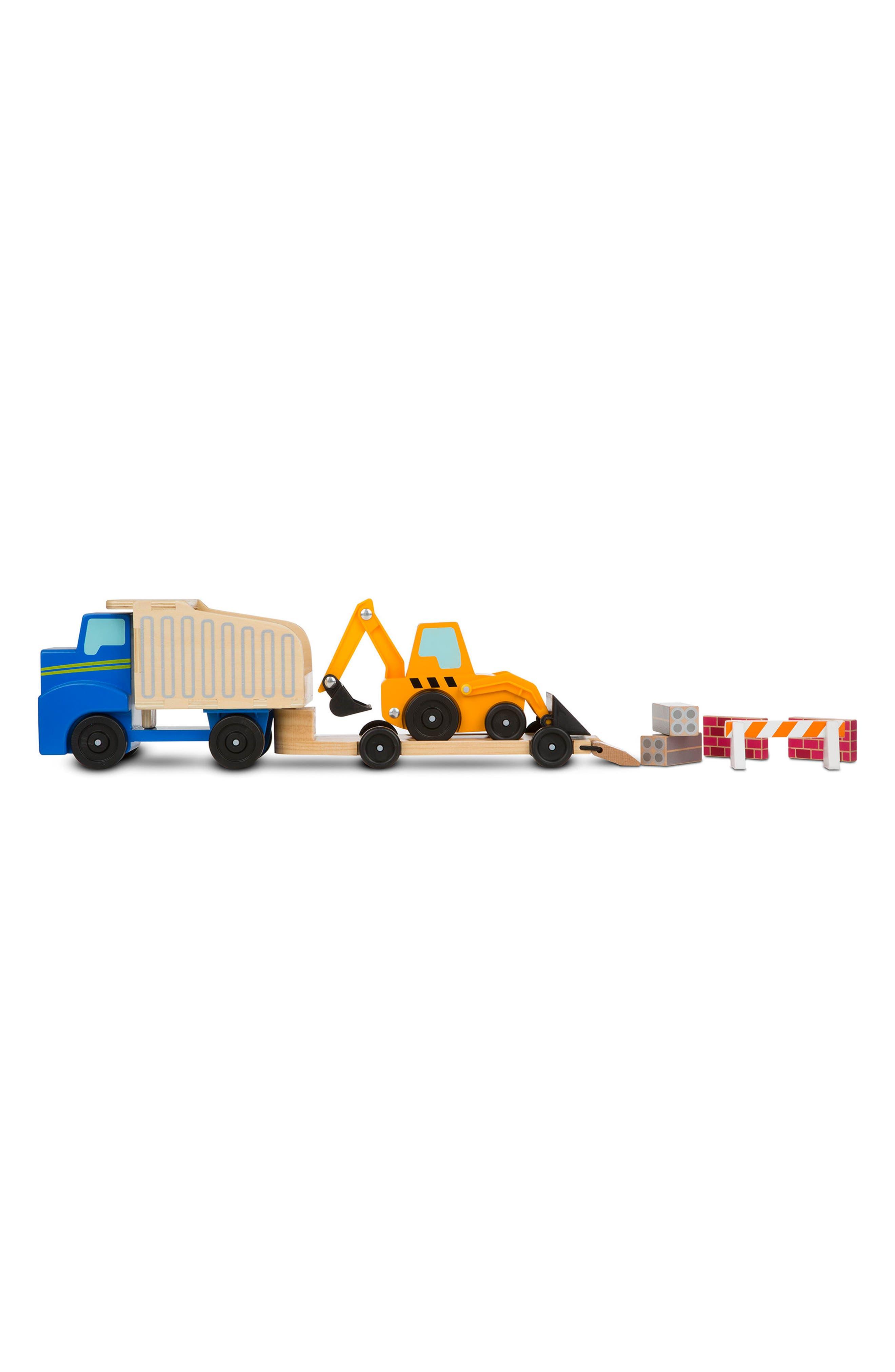 Dump Truck & Loader,                         Main,                         color, Yellow