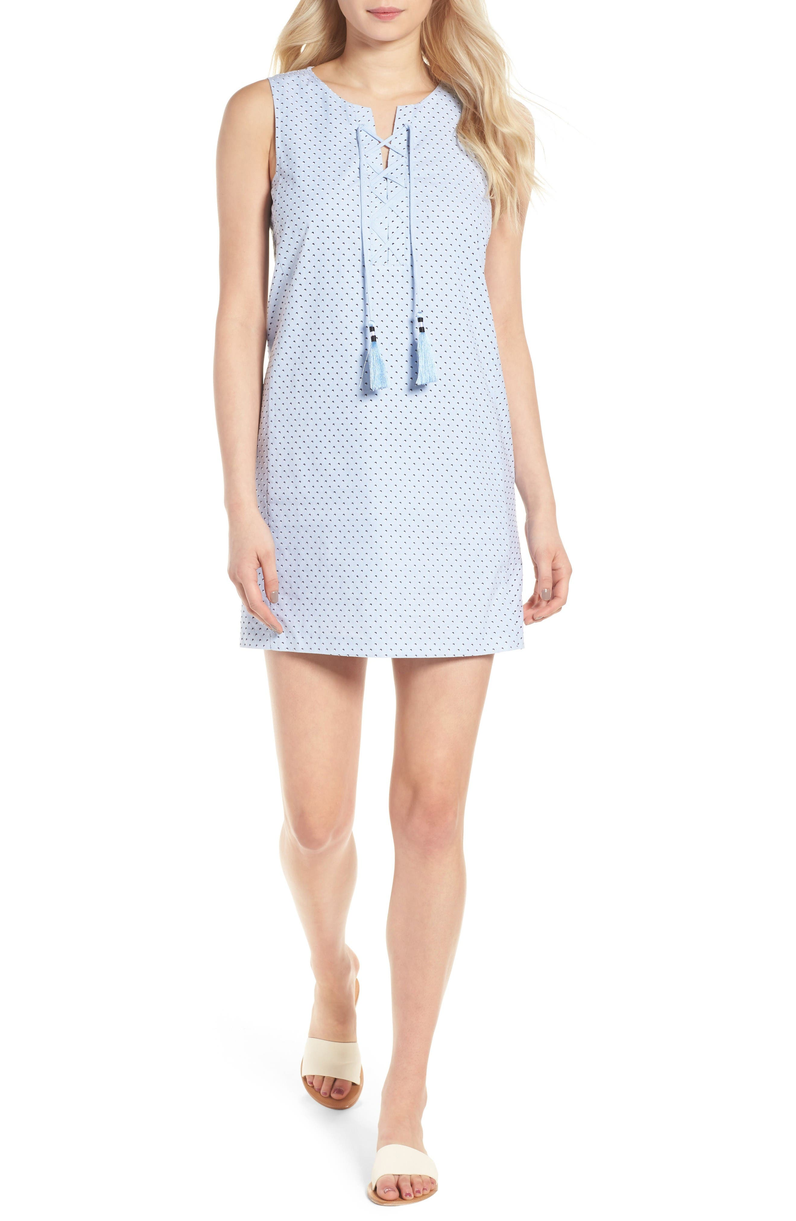 Isabel Tunic Dress,                         Main,                         color, Baby Blue