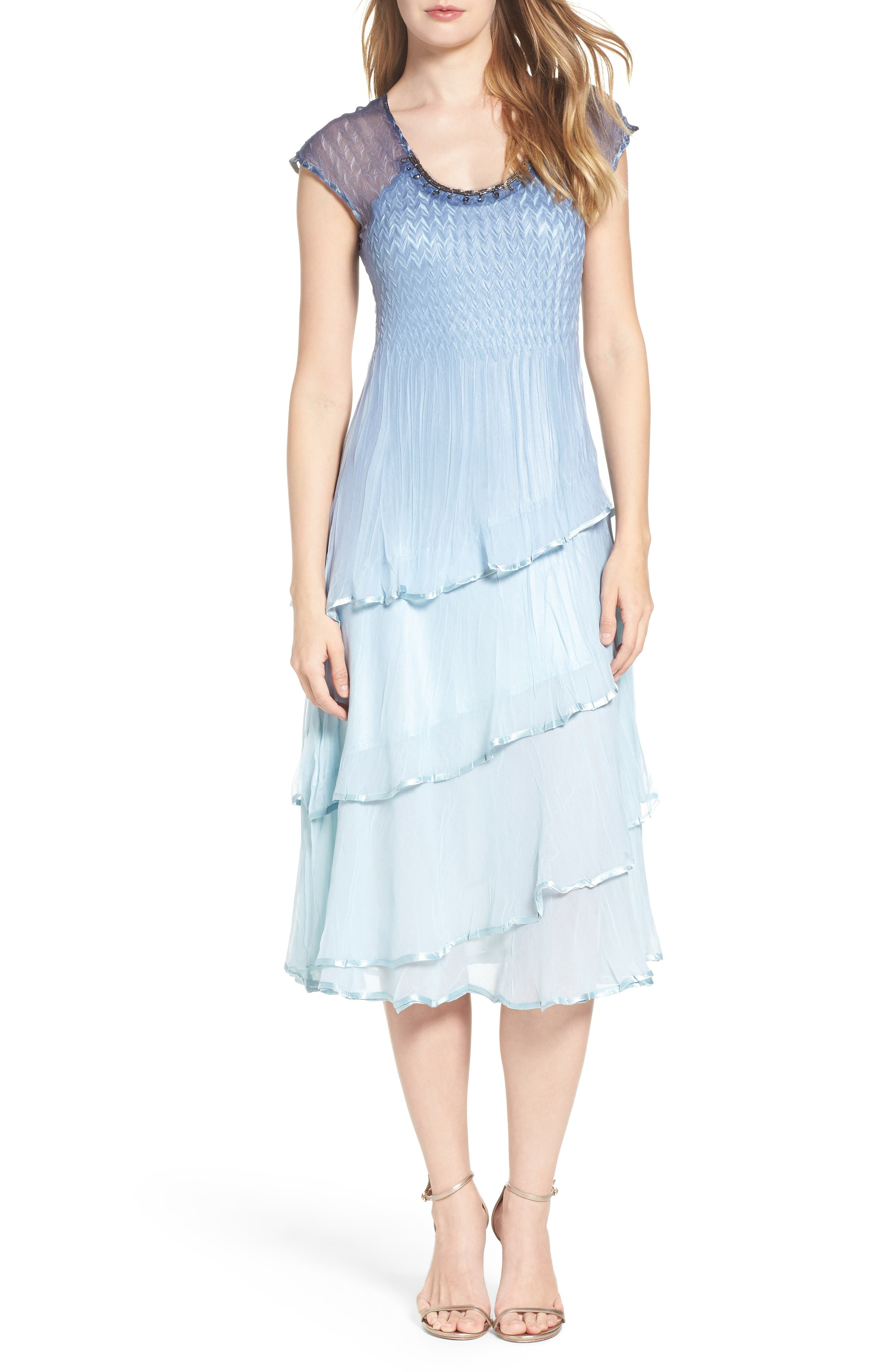 Komarov Embellished Midi Dress (Regular & Petite)