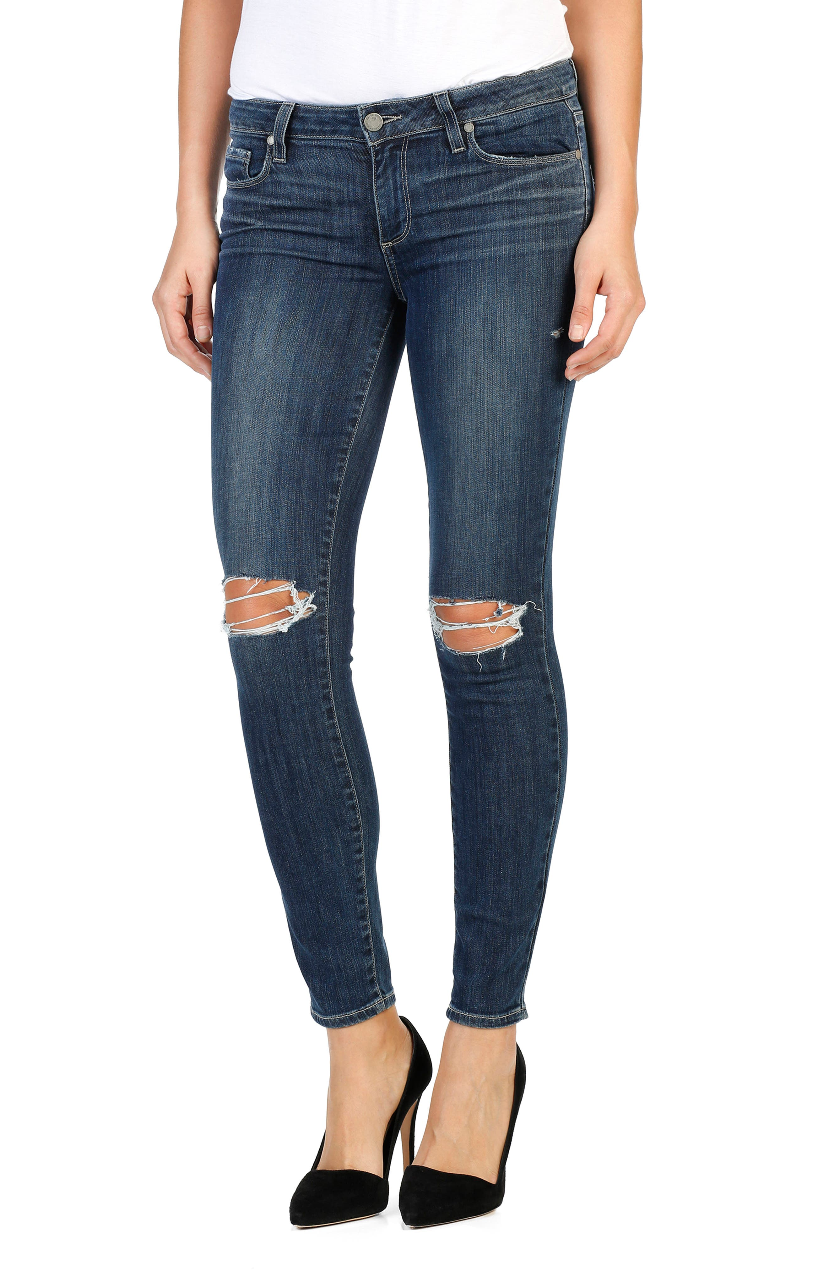 Main Image - PAIGE Legacy - Verdugo Ankle Skinny Jeans (Donna Distressed)