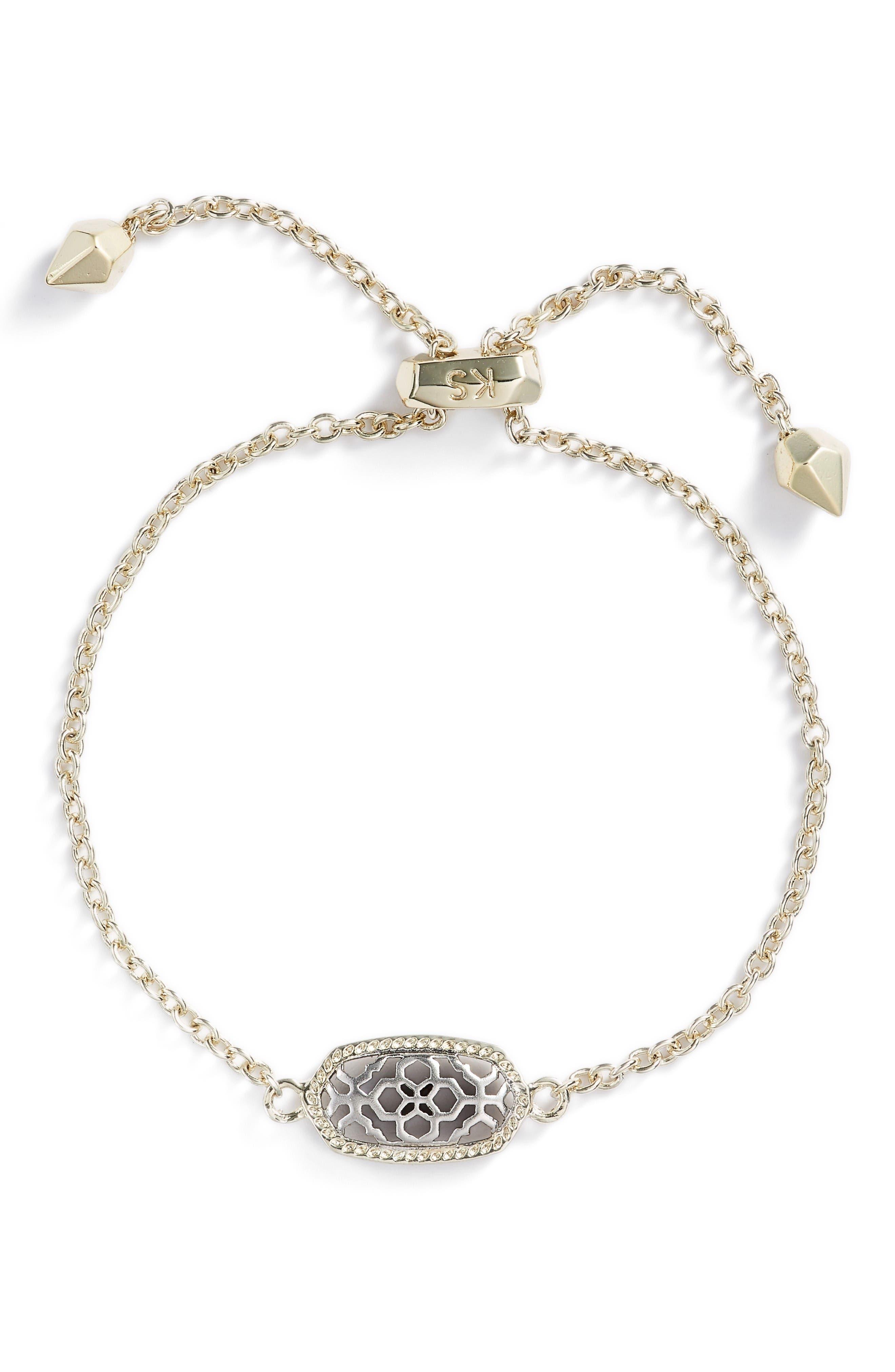 Elaina Openwork Bracelet,                         Main,                         color, Gold/ Silver