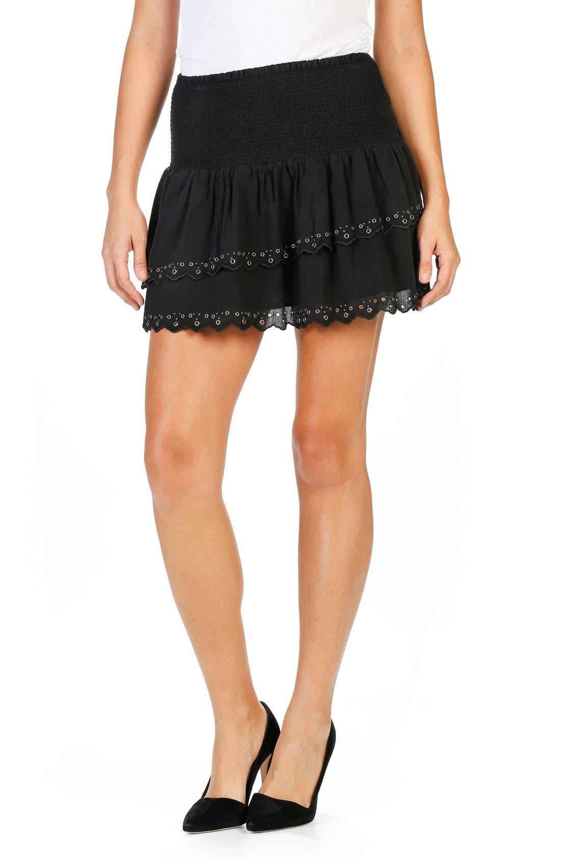 PAIGE Cara Cotton Miniskirt