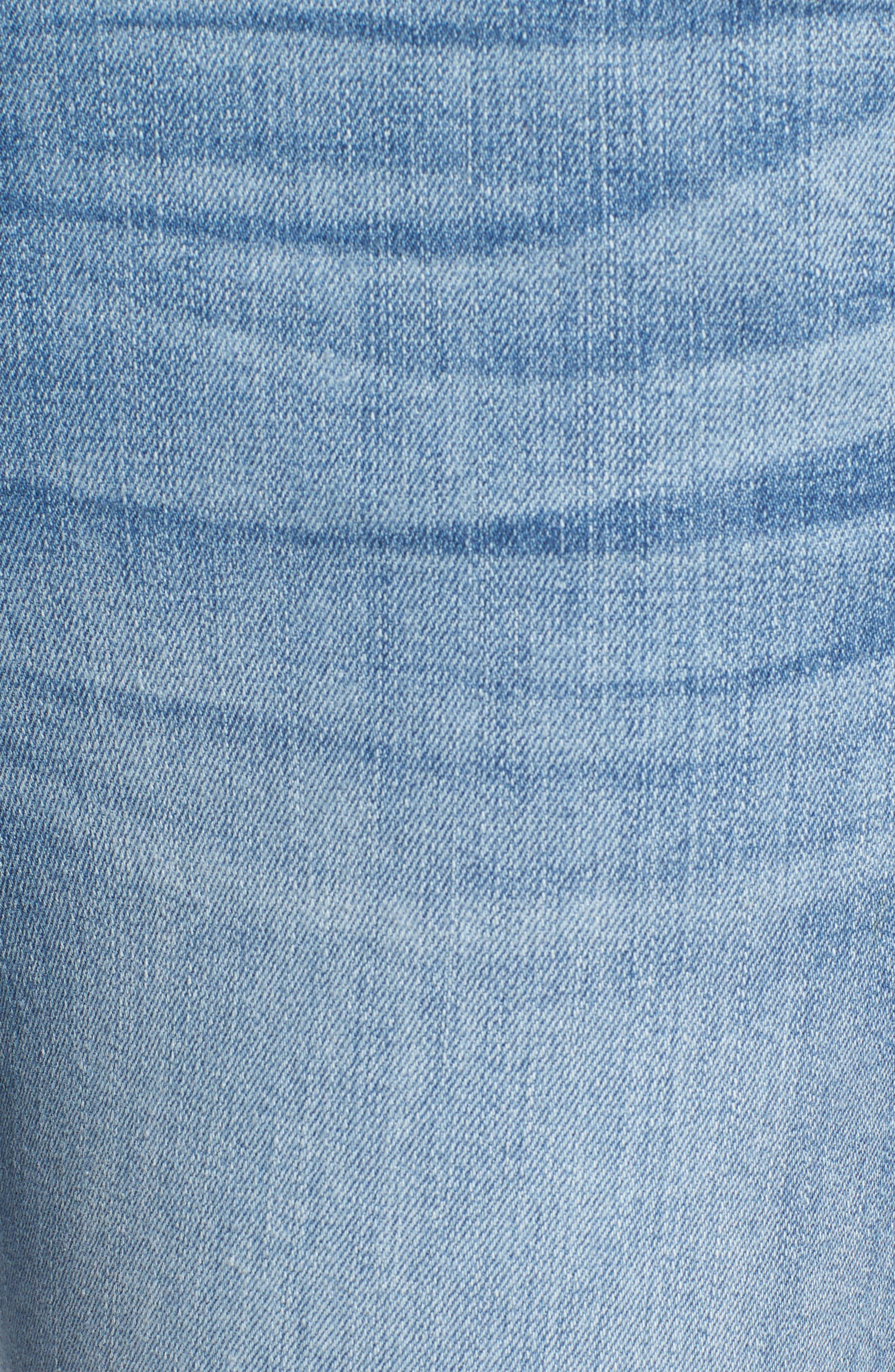 Good Legs Released Hem Skinny Jeans,                             Alternate thumbnail 5, color,                             Blue 023