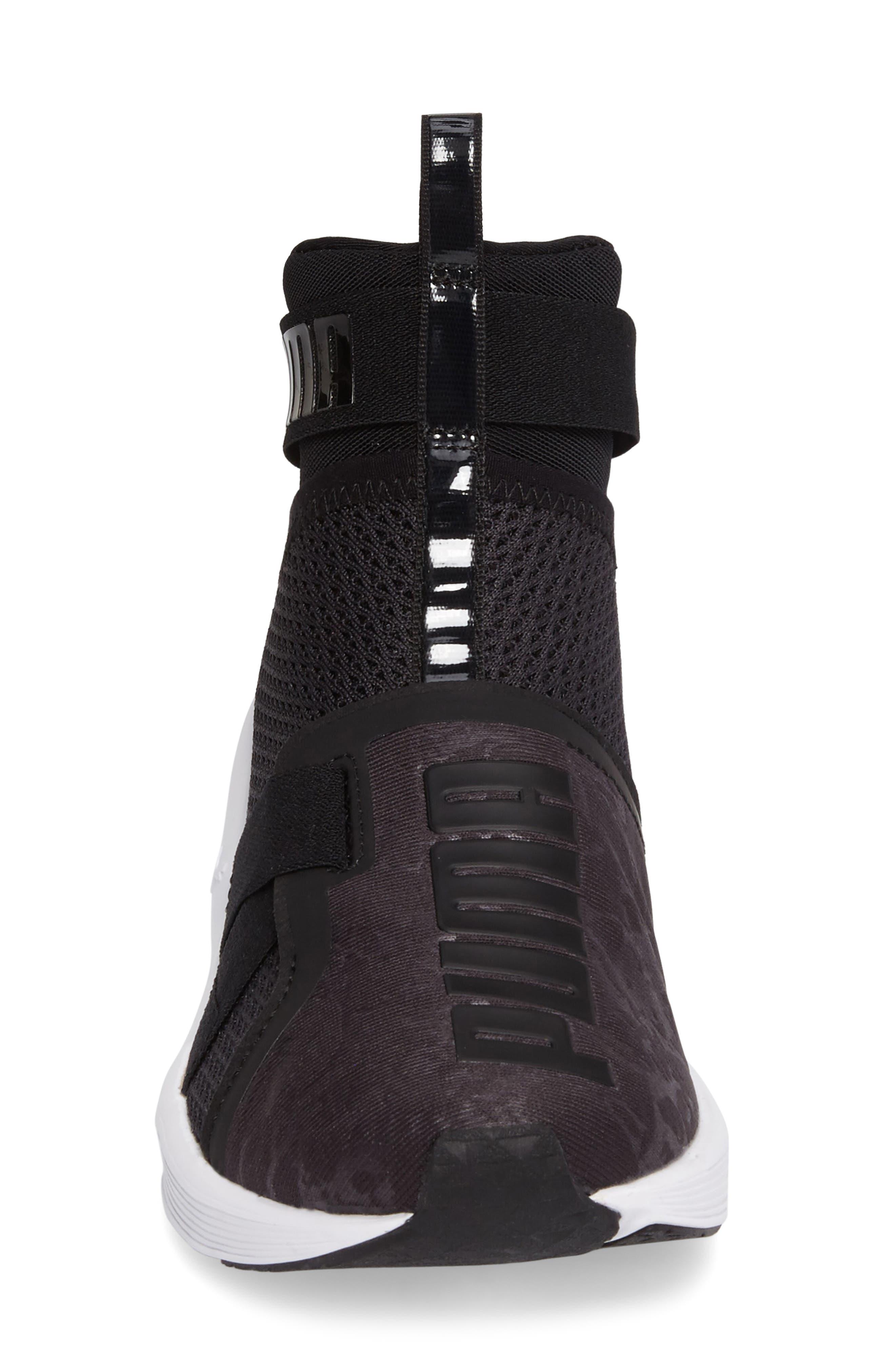 Fierce Strap Training Sneaker,                             Alternate thumbnail 3, color,                             Black/ White