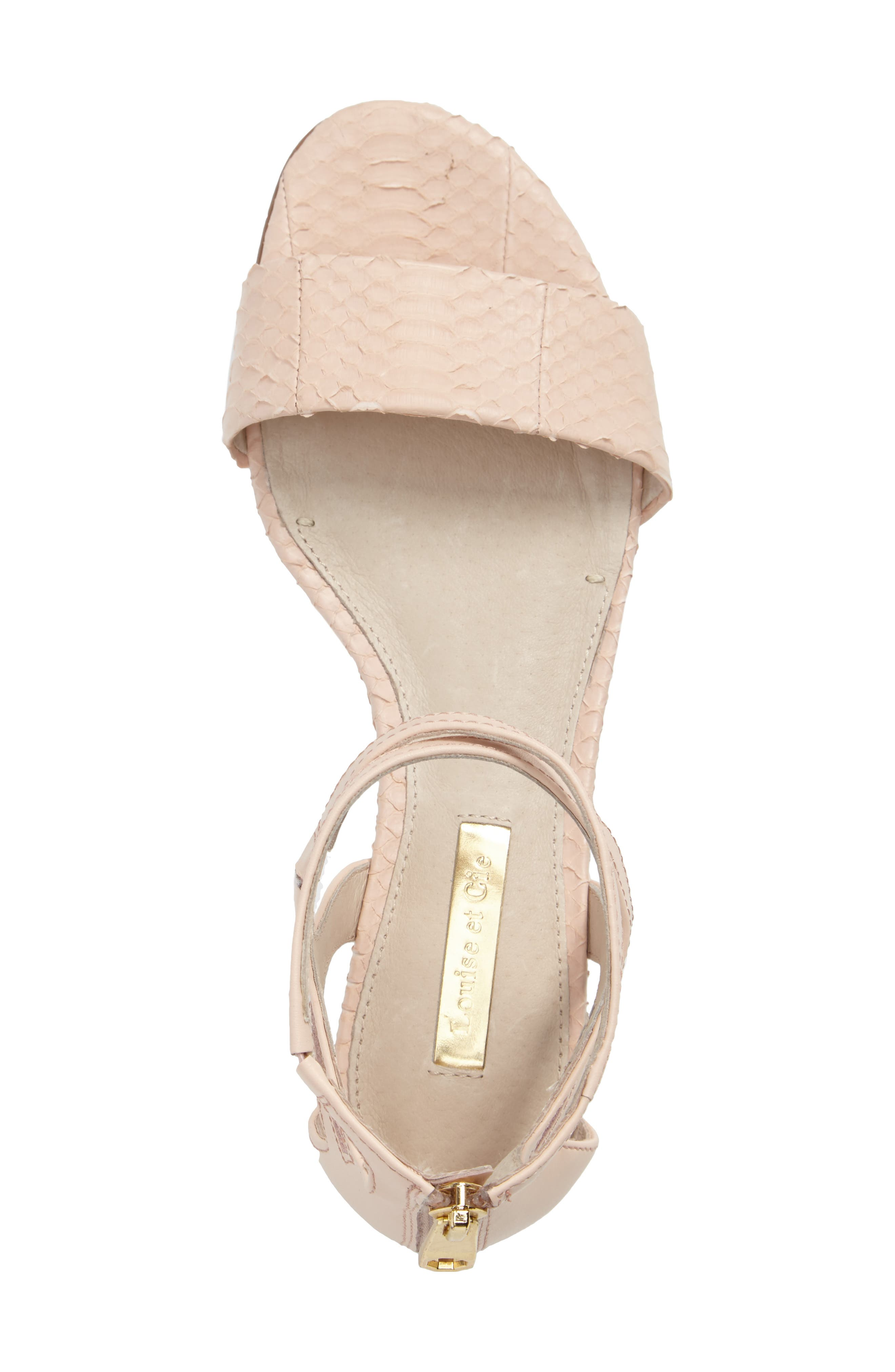 Adley Ankle Strap Sandal,                             Alternate thumbnail 3, color,                             Mimosa Leather